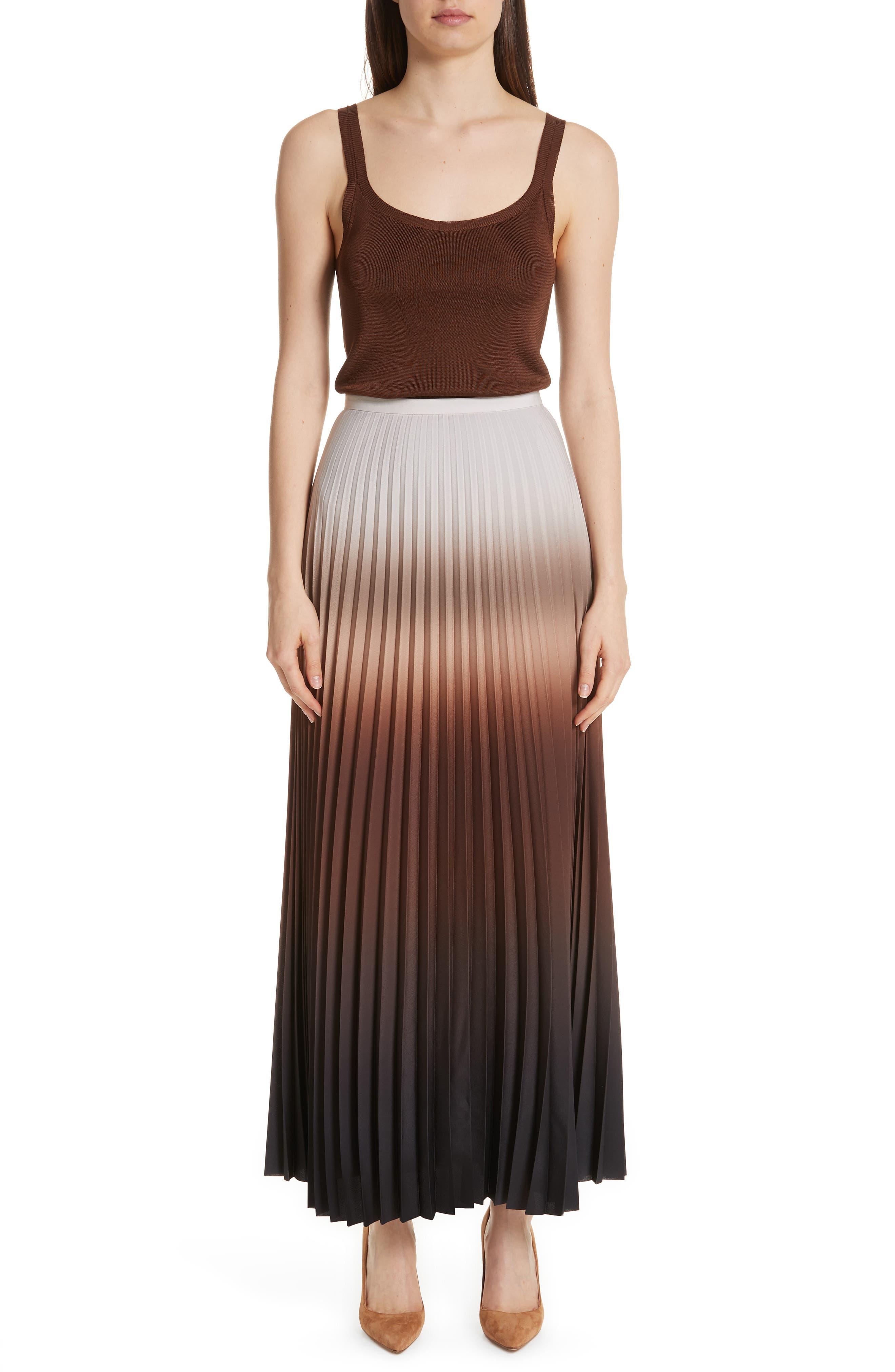 MAX MARA,                             Abatina Maxi Skirt,                             Alternate thumbnail 7, color,                             TOBACCO