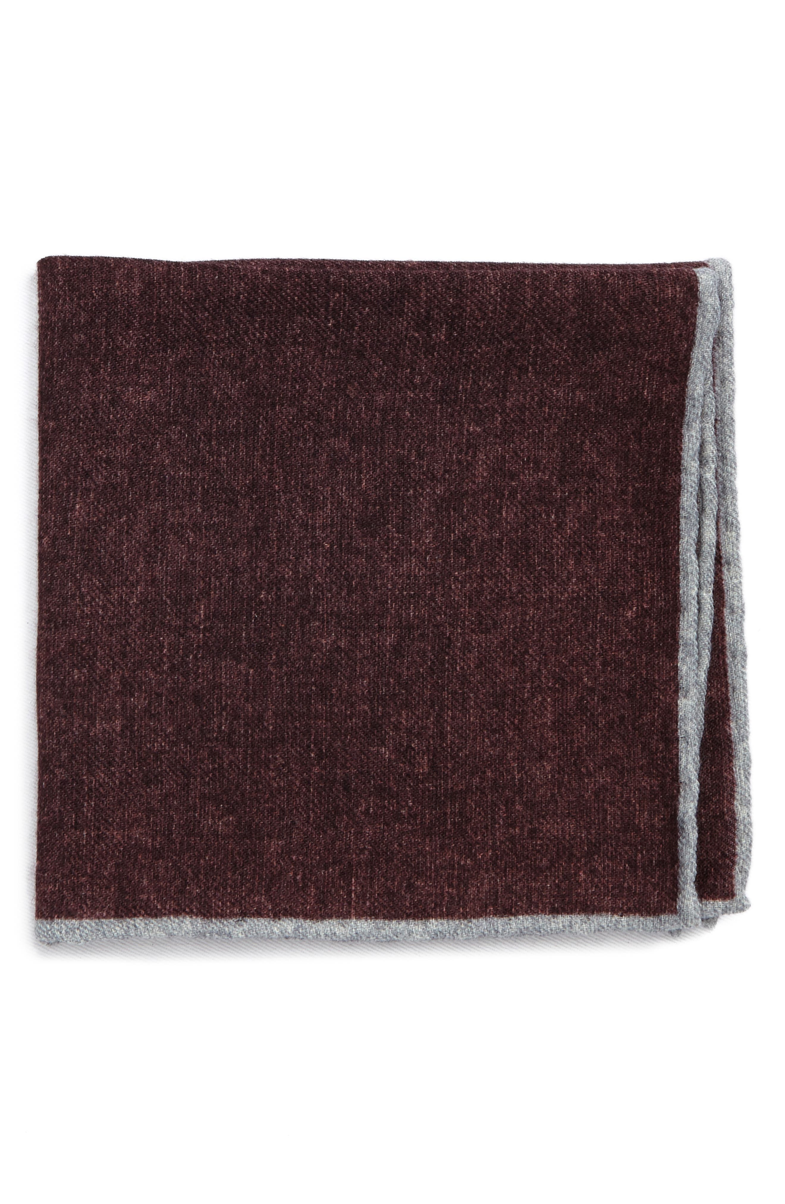Flannel Wool Pocket Square,                             Main thumbnail 3, color,