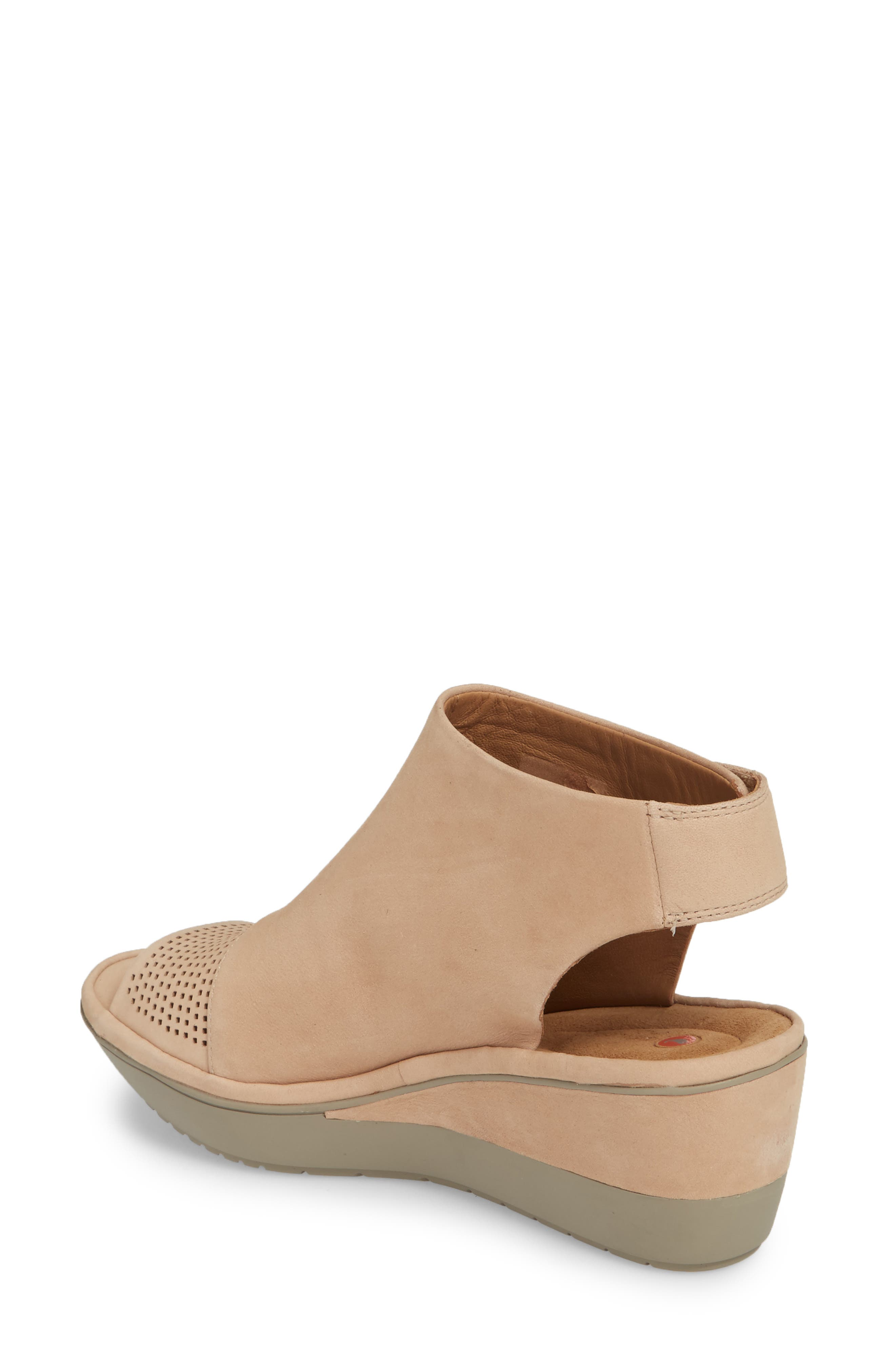 CLARKS<SUP>®</SUP>,                             Wynnmere Abie Wedge Sandal,                             Alternate thumbnail 2, color,                             273