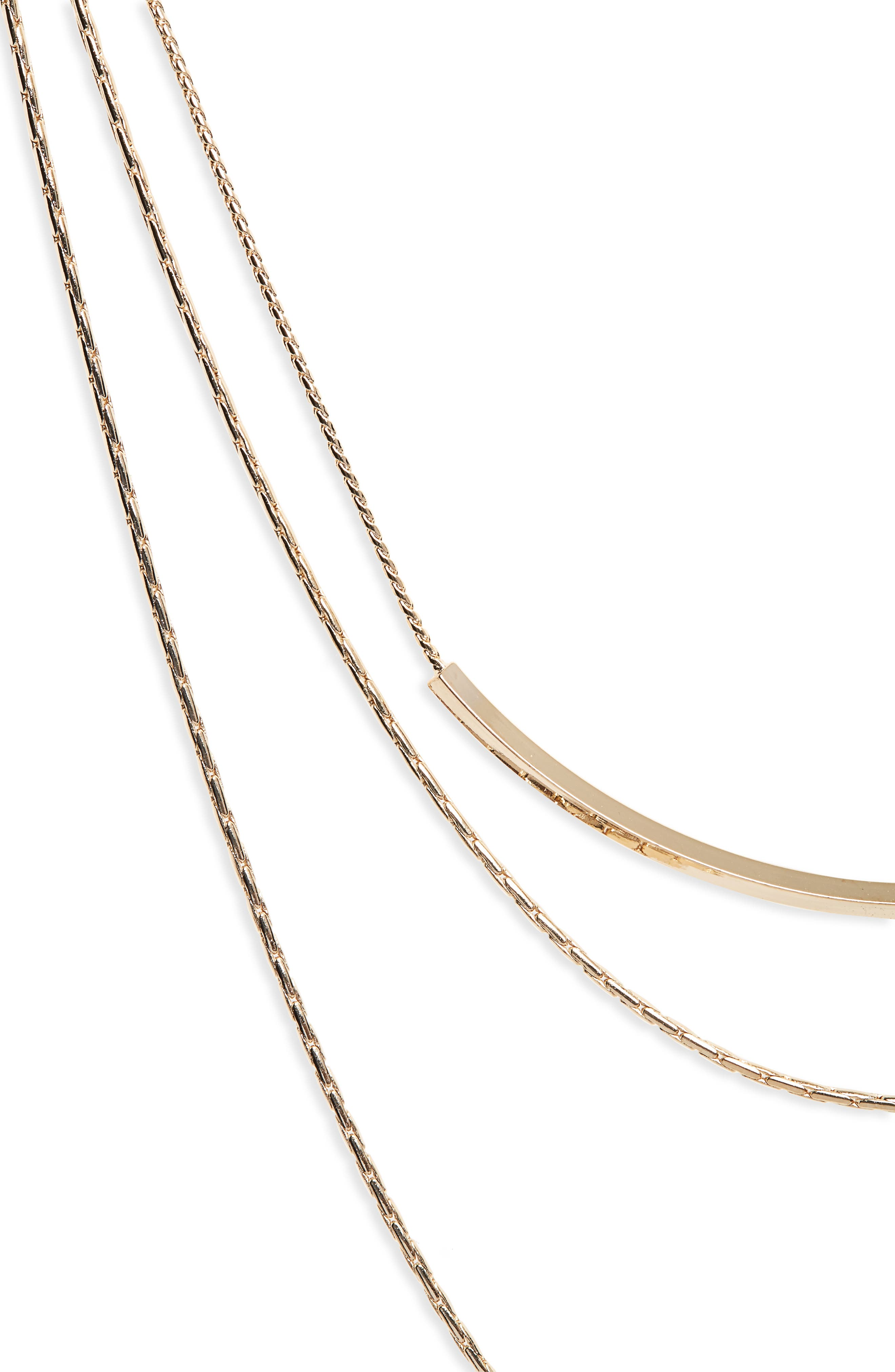 Layered Chain Necklace,                             Alternate thumbnail 2, color,                             710