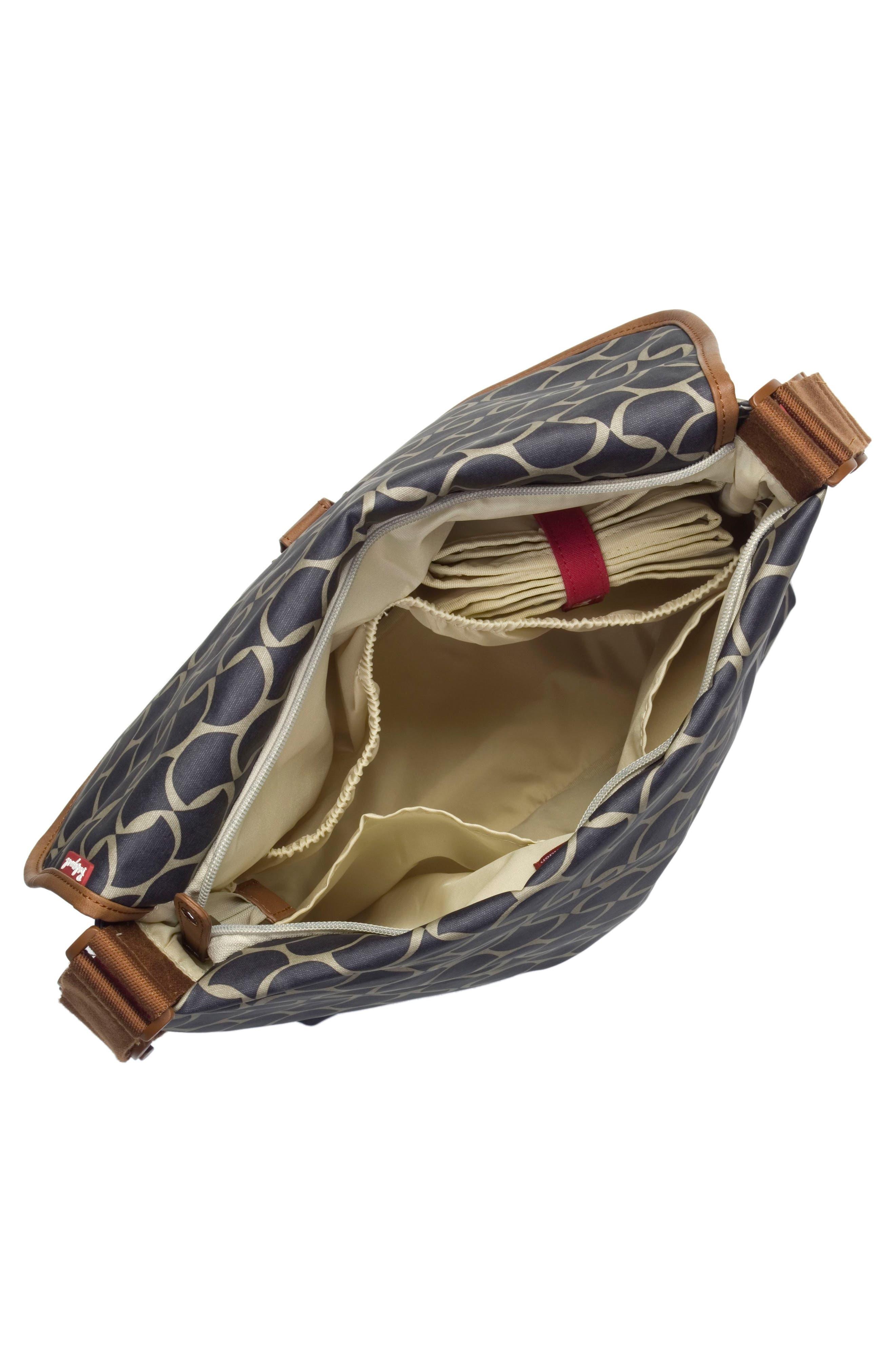 Satchel Wave Fawn Diaper Bag,                             Alternate thumbnail 3, color,