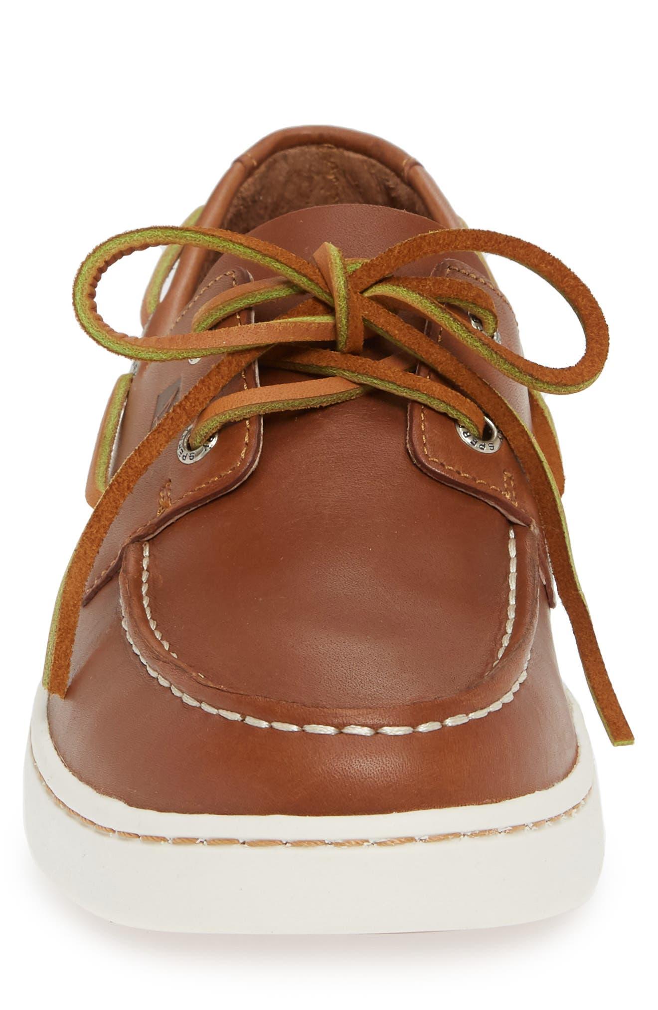 Cup Boat Shoe,                             Alternate thumbnail 4, color,                             TAN