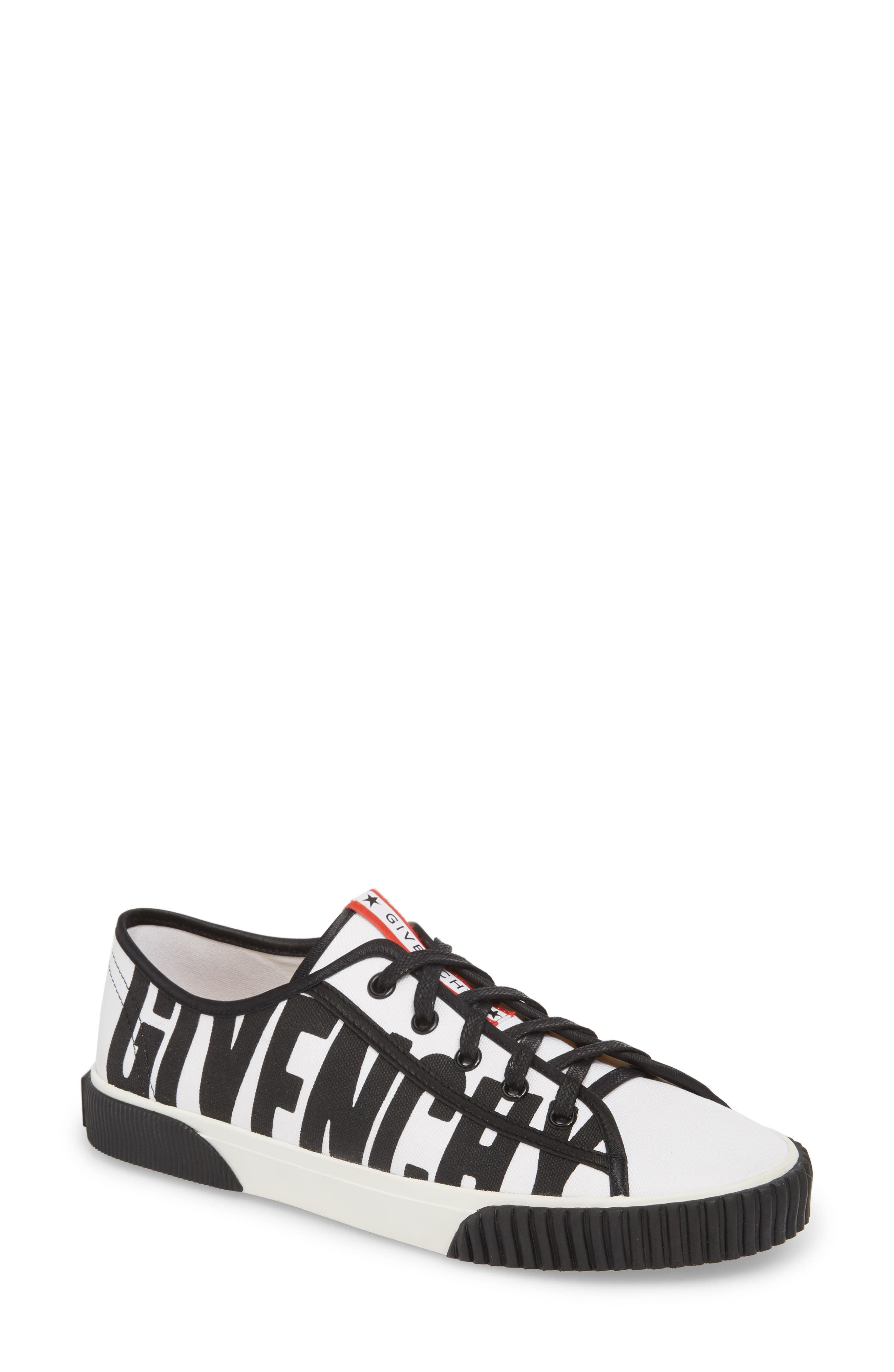 Boxing Logo Sneaker,                         Main,                         color, WHITE/ BLACK