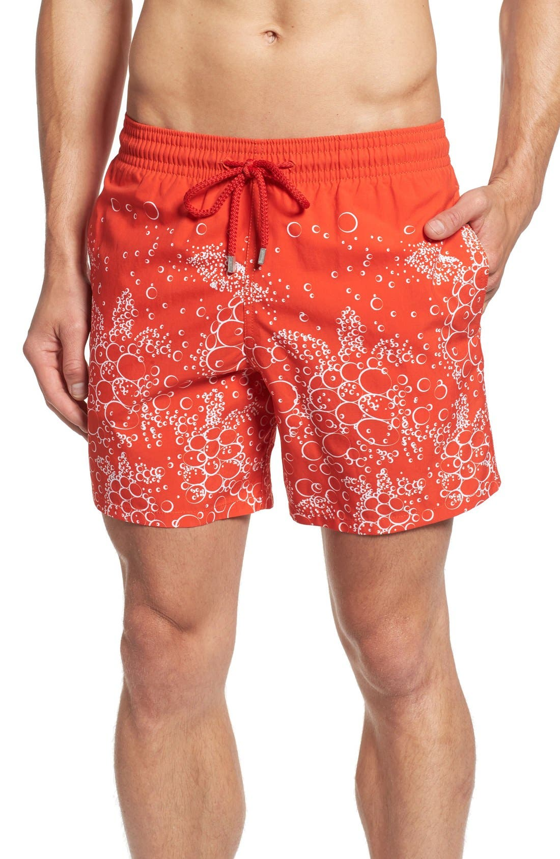 Bubble Turtle Print Swim Trunks,                         Main,                         color, 612