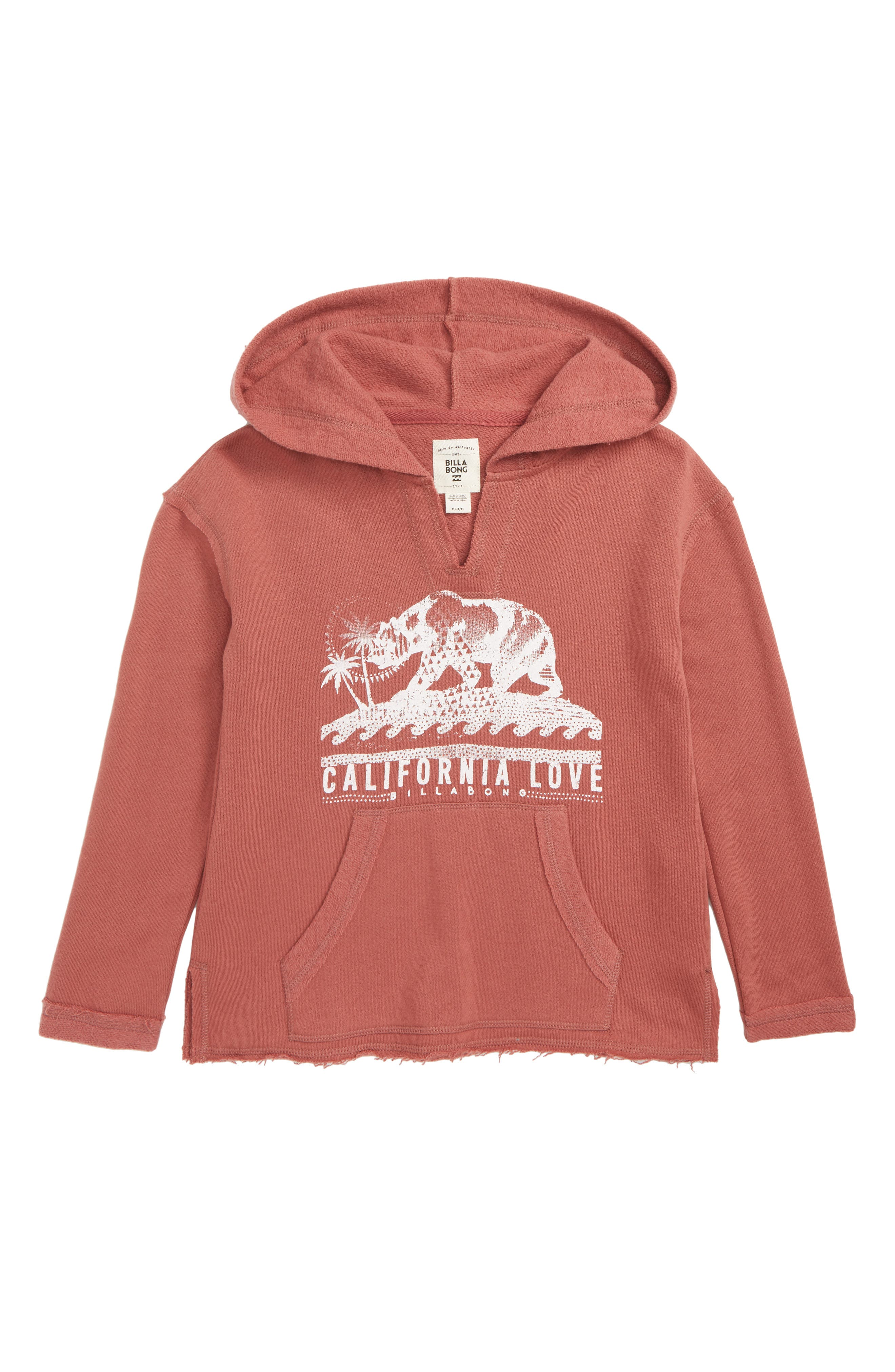 Days Off Pullover Hoodie,                             Main thumbnail 1, color,                             VINTAGE PLUM