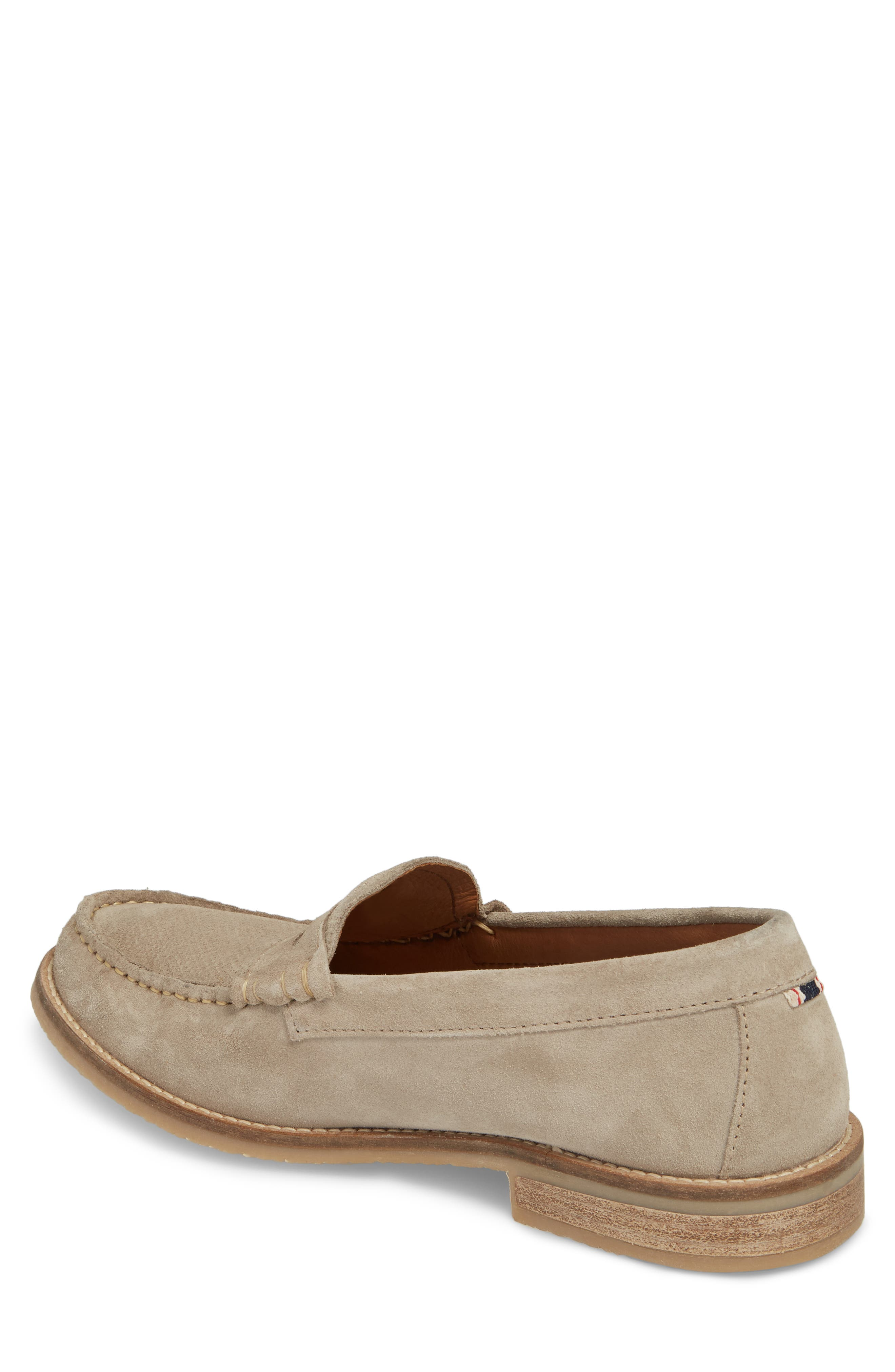 Wayne Textured Penny Loafer,                             Alternate thumbnail 2, color,                             EARTH BEIGE