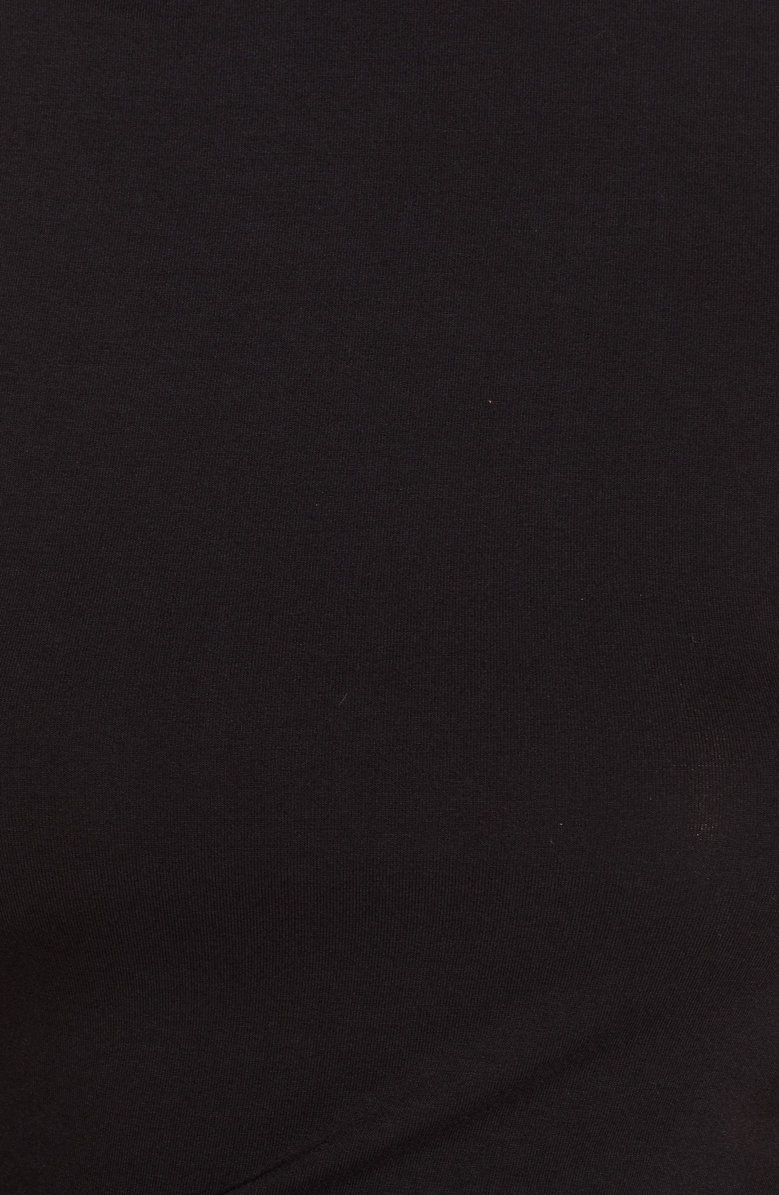 Mock Neck Tank Dress,                             Alternate thumbnail 6, color,                             BLACK