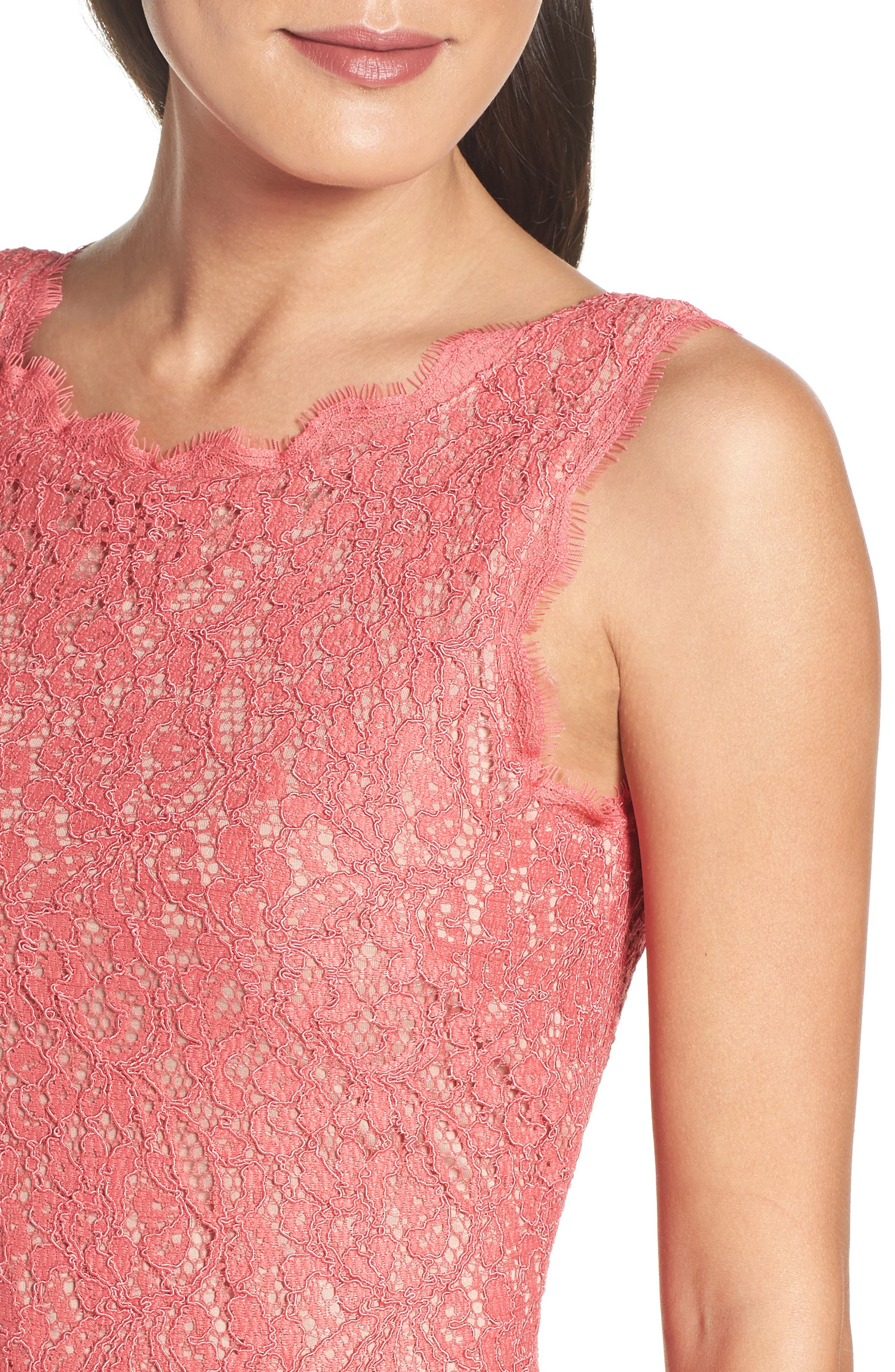 Boatneck Lace Sheath Dress,                             Alternate thumbnail 121, color,