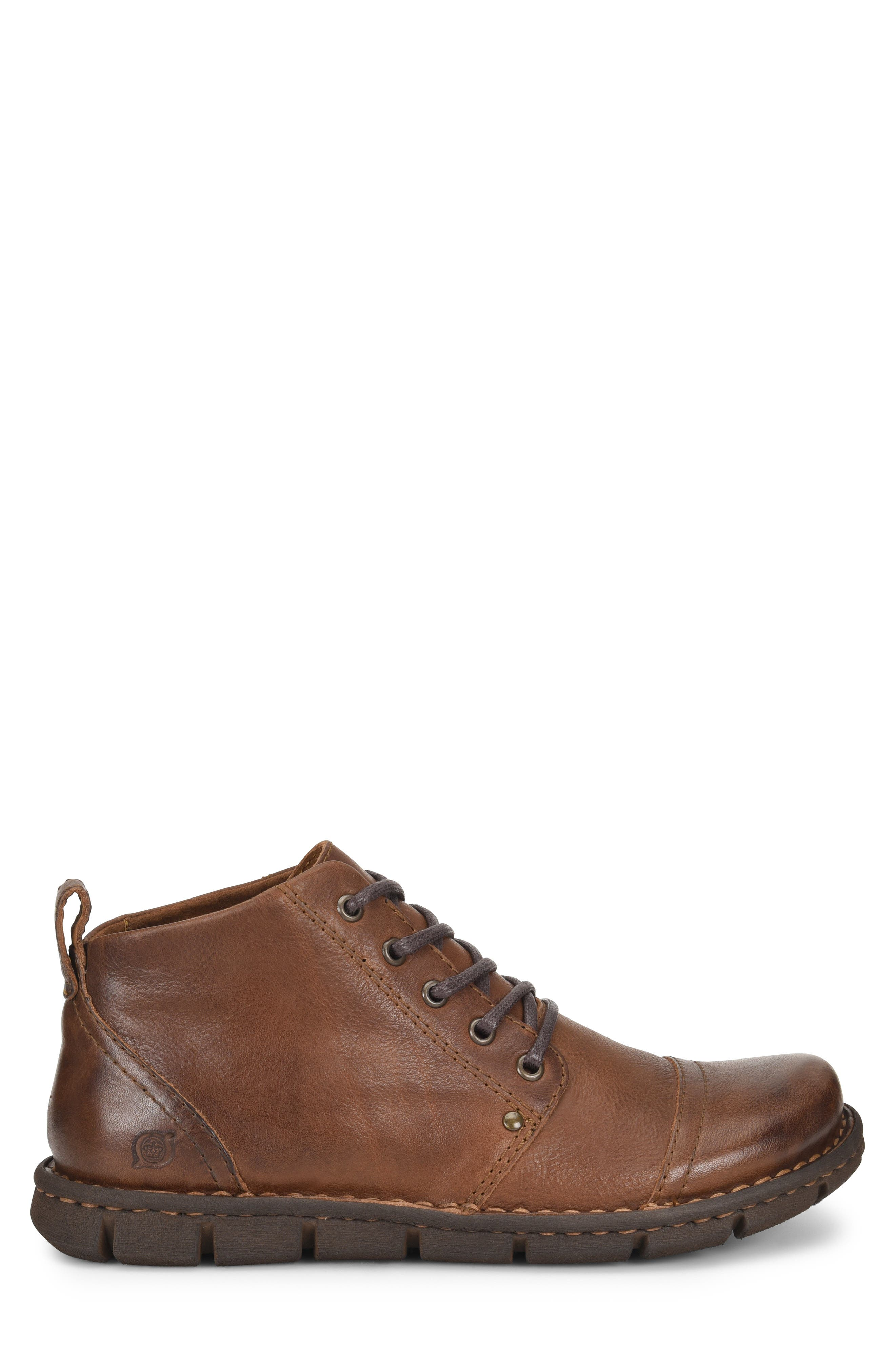 Boulder Cap Toe Boot,                             Alternate thumbnail 3, color,                             BROWN LEATHER