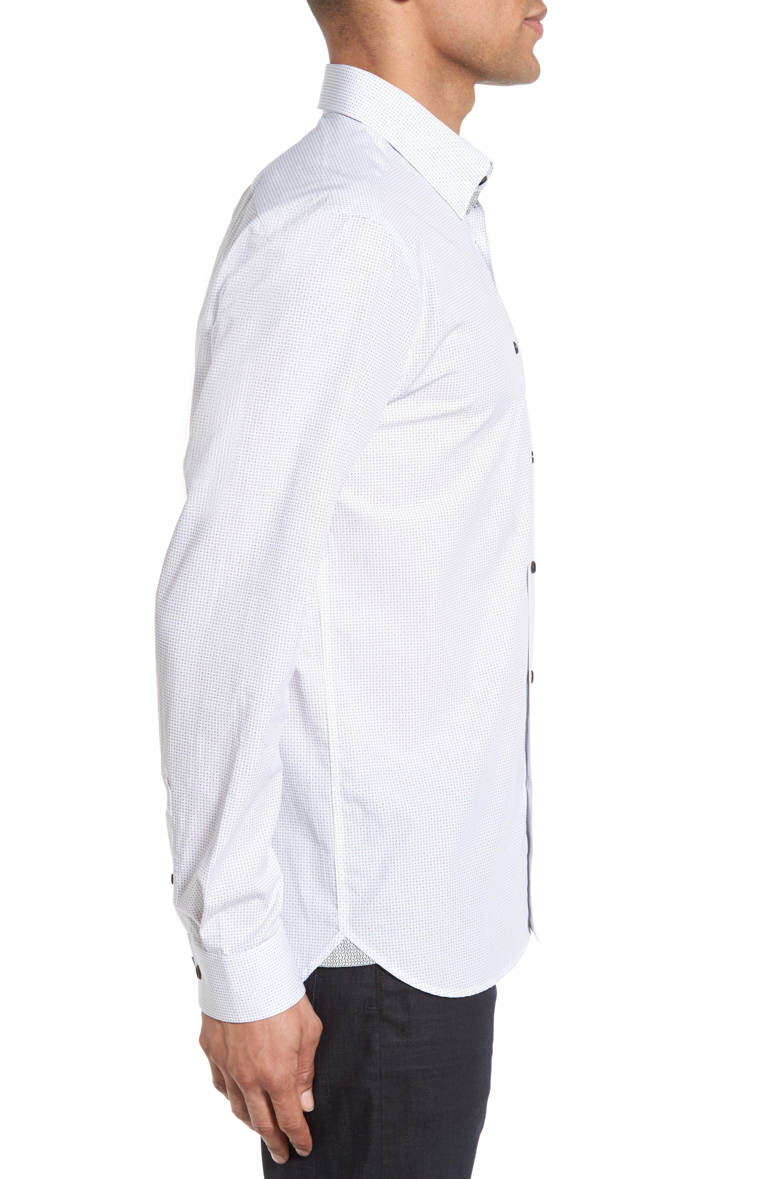 Arkells Modern Slim Fit Print Sport Shirt,                             Alternate thumbnail 3, color,