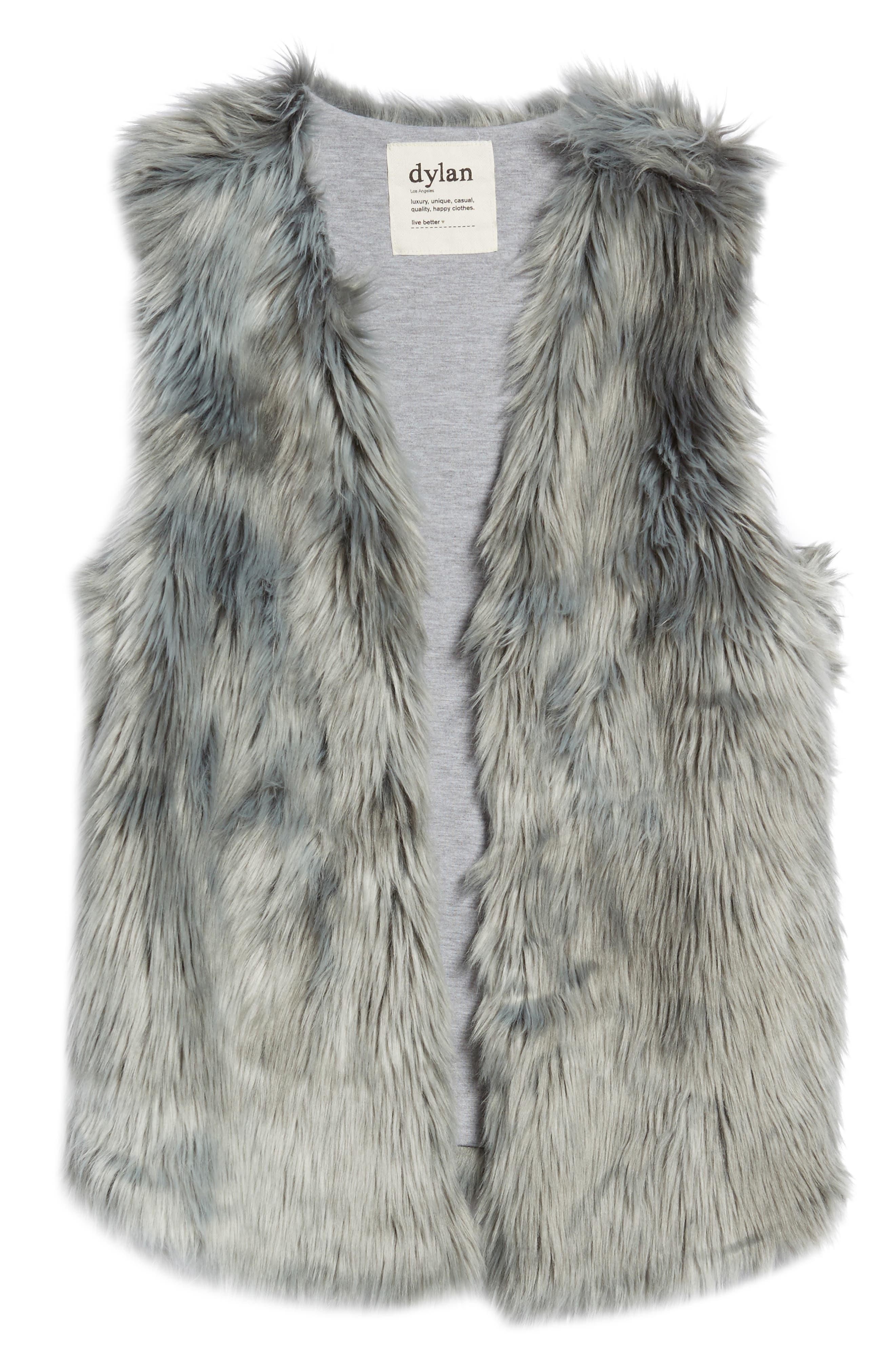 Faux Fur Vest,                             Alternate thumbnail 5, color,                             425