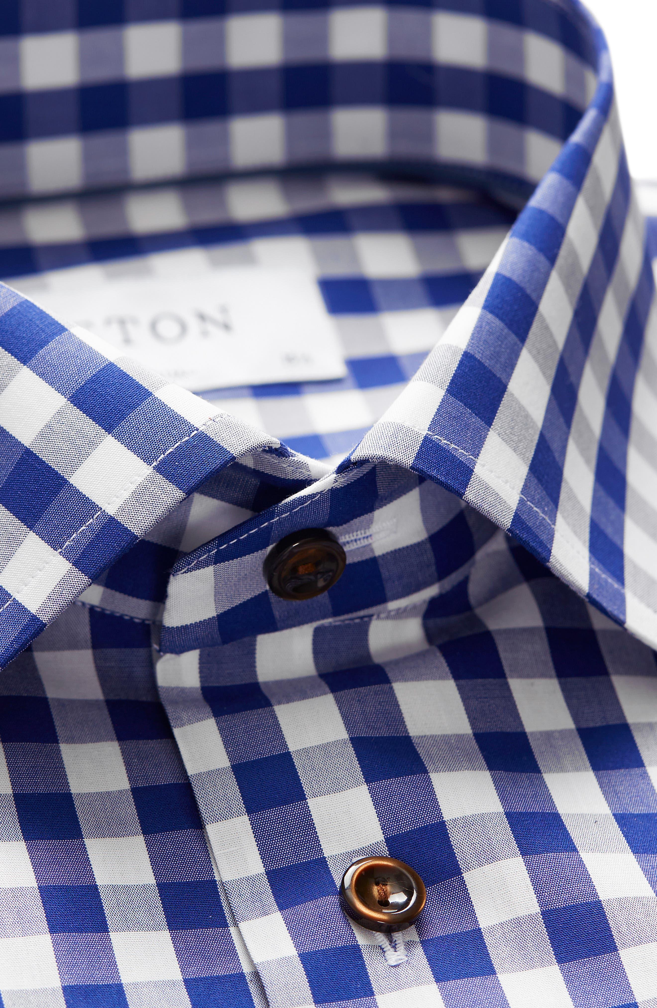 Contemporary Fit Check Dress Shirt,                             Alternate thumbnail 7, color,                             400