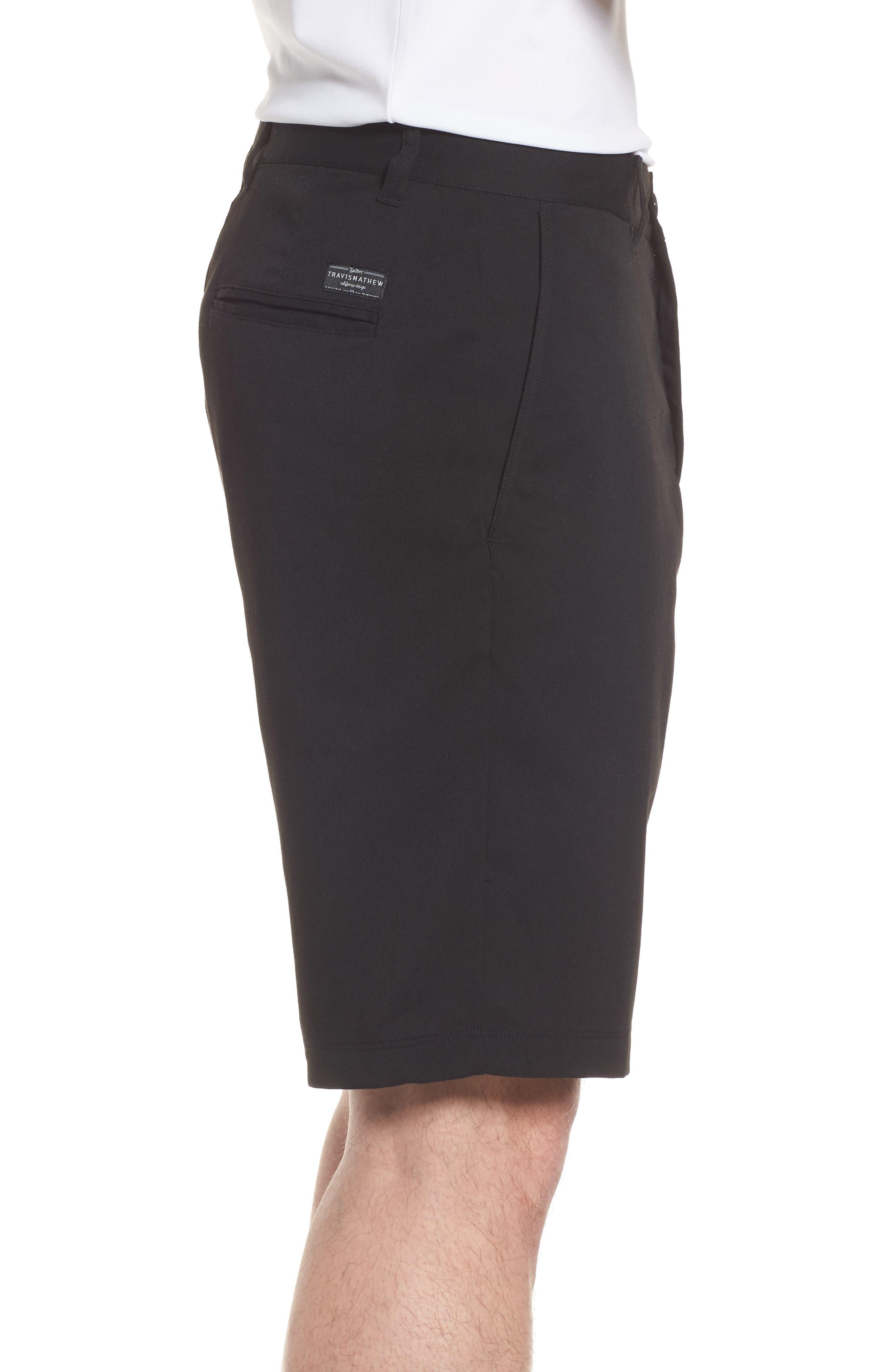 Puebla Stretch Shorts,                             Alternate thumbnail 3, color,                             BLACK