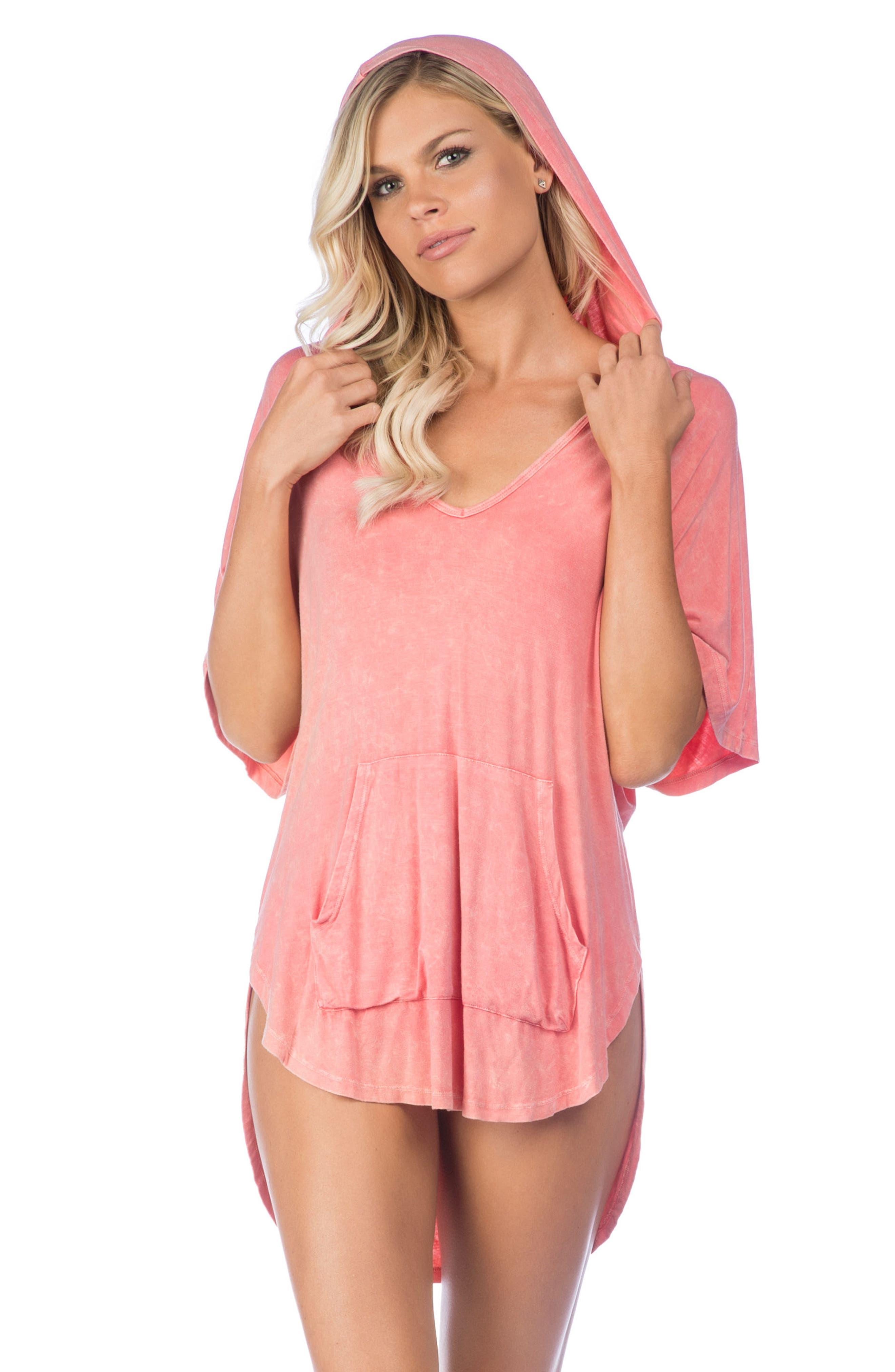 Riviera Hooded Cover-Up,                             Alternate thumbnail 4, color,