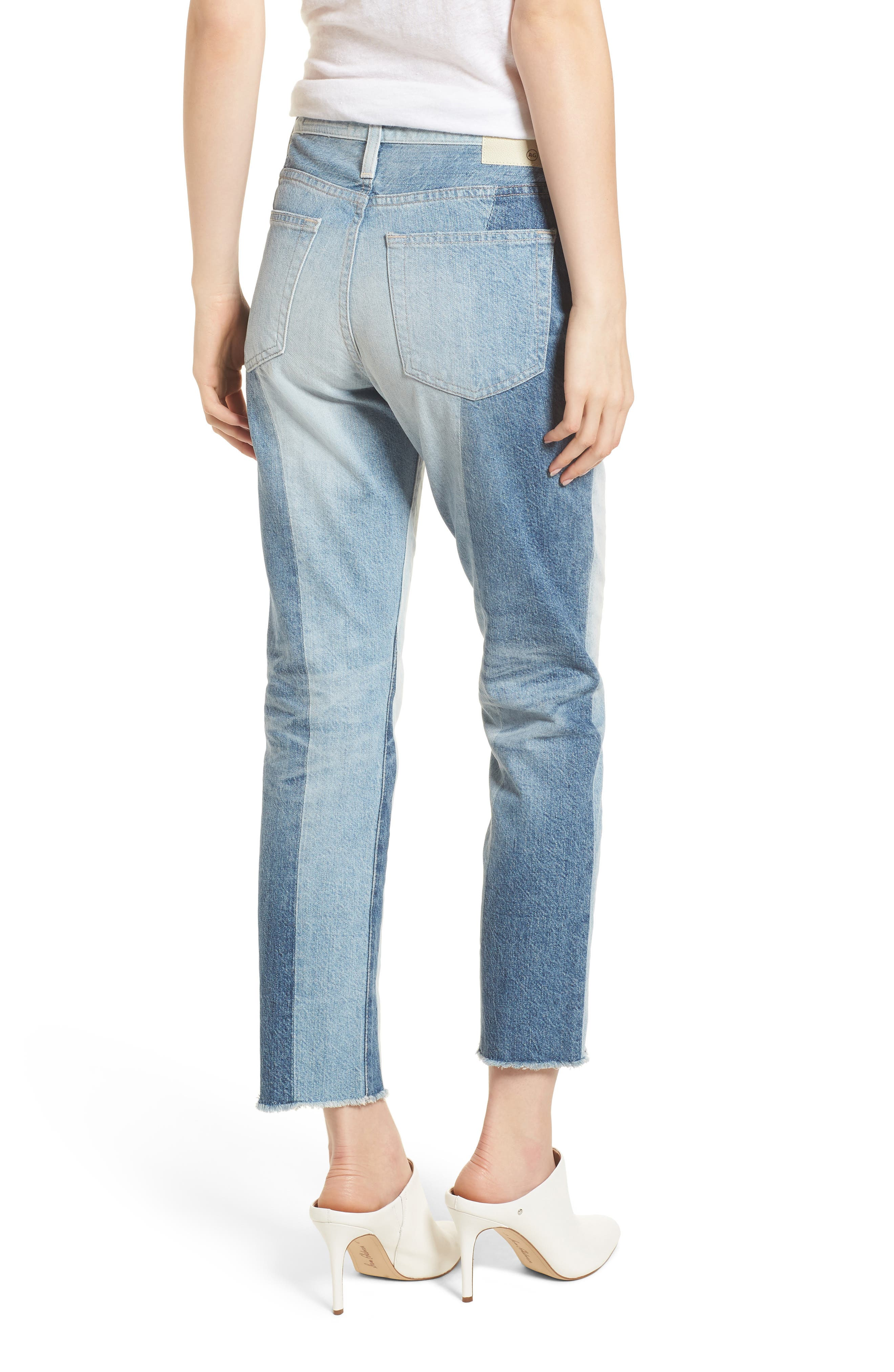The Isabelle High Waist Crop Straight Leg Jeans,                             Alternate thumbnail 2, color,