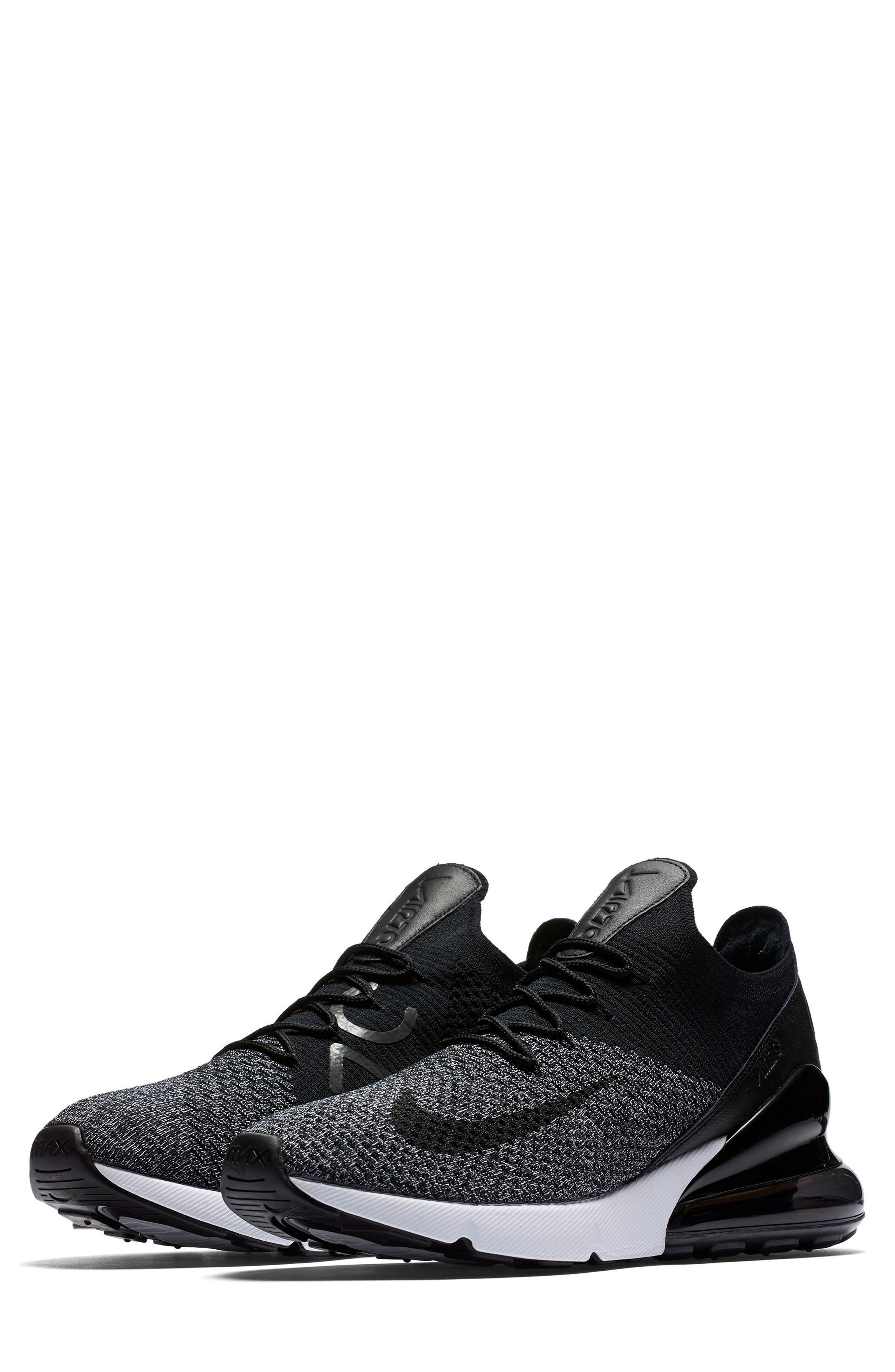 Air Max 270 Flyknit Sneaker,                             Main thumbnail 1, color,                             001