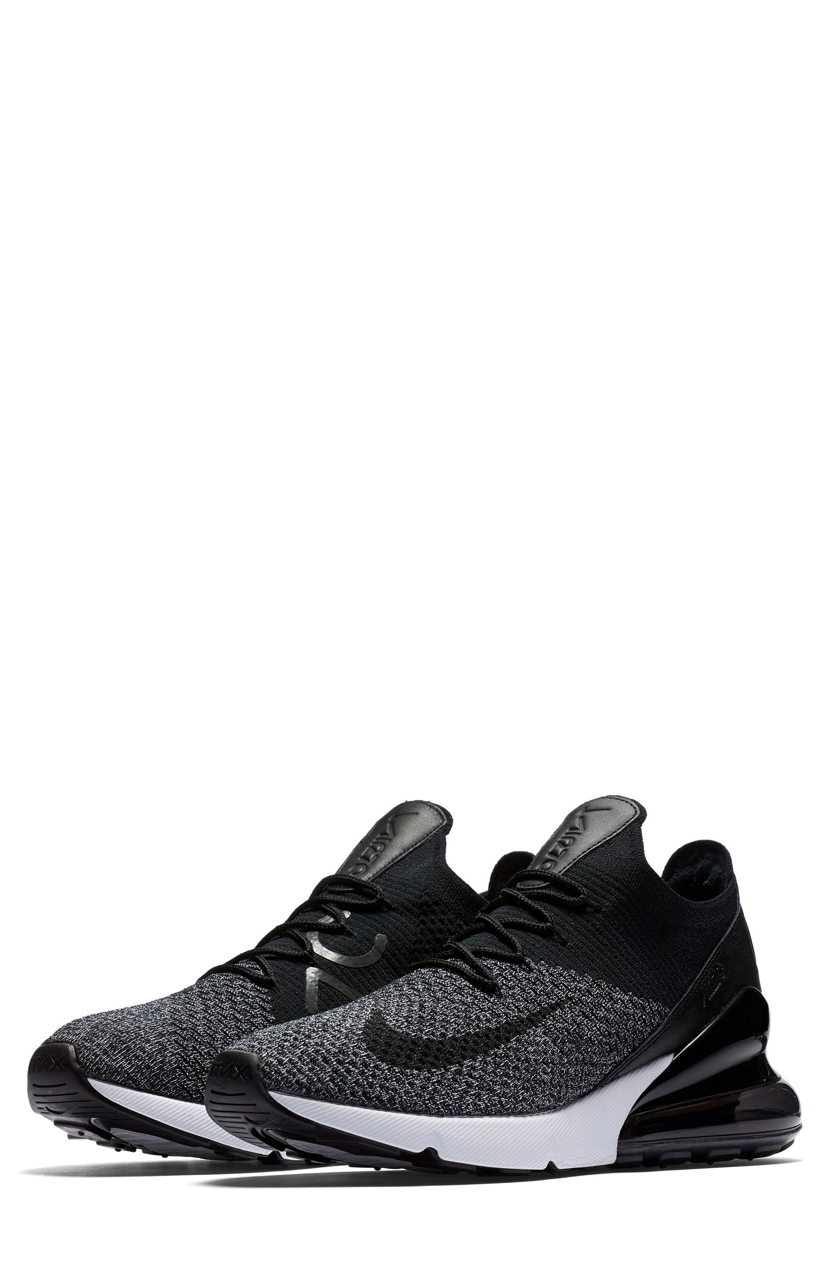 Air Max 270 Flyknit Sneaker,                         Main,                         color, 001