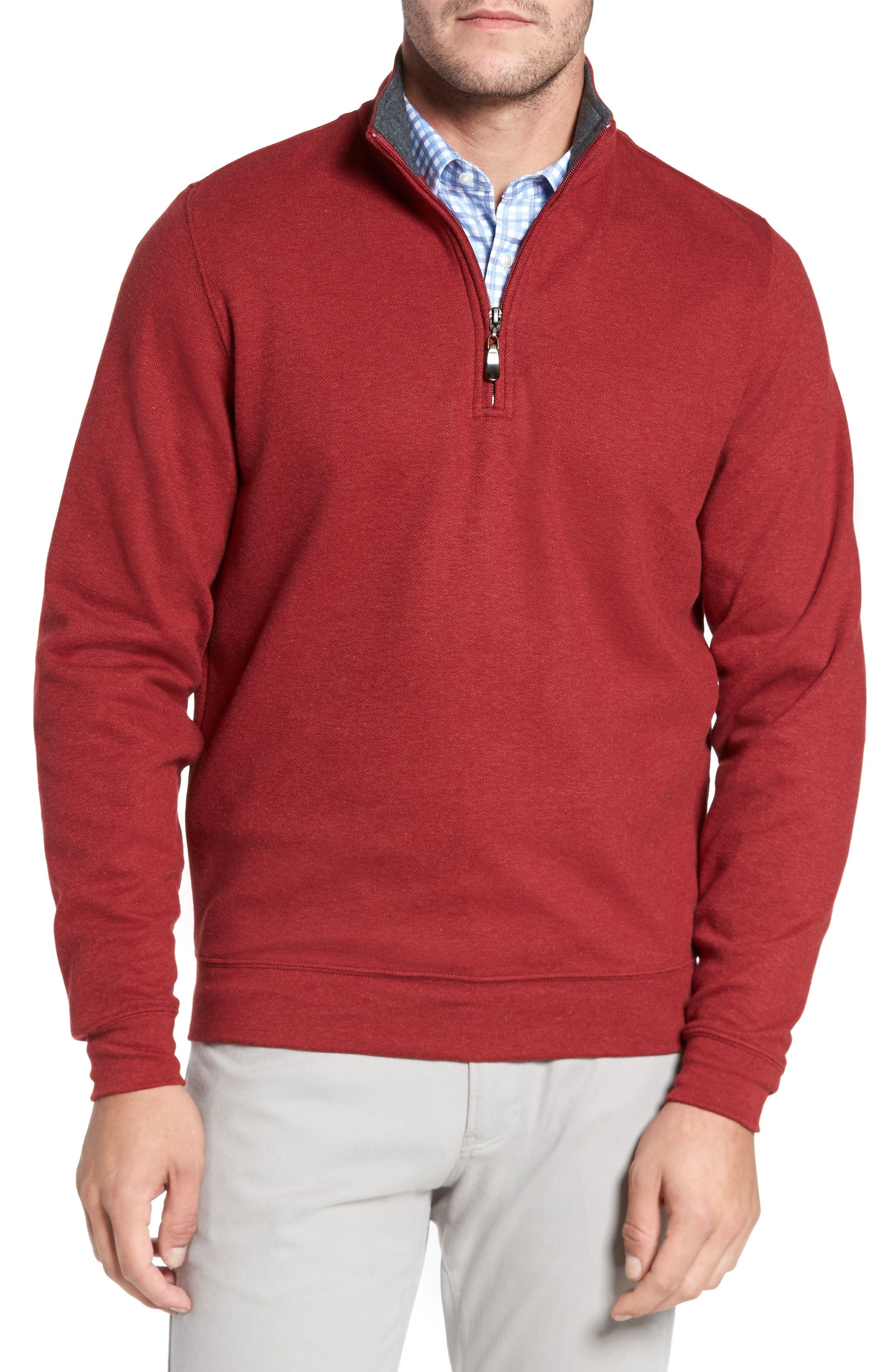 Mélange Quarter Zip Pullover,                             Main thumbnail 3, color,