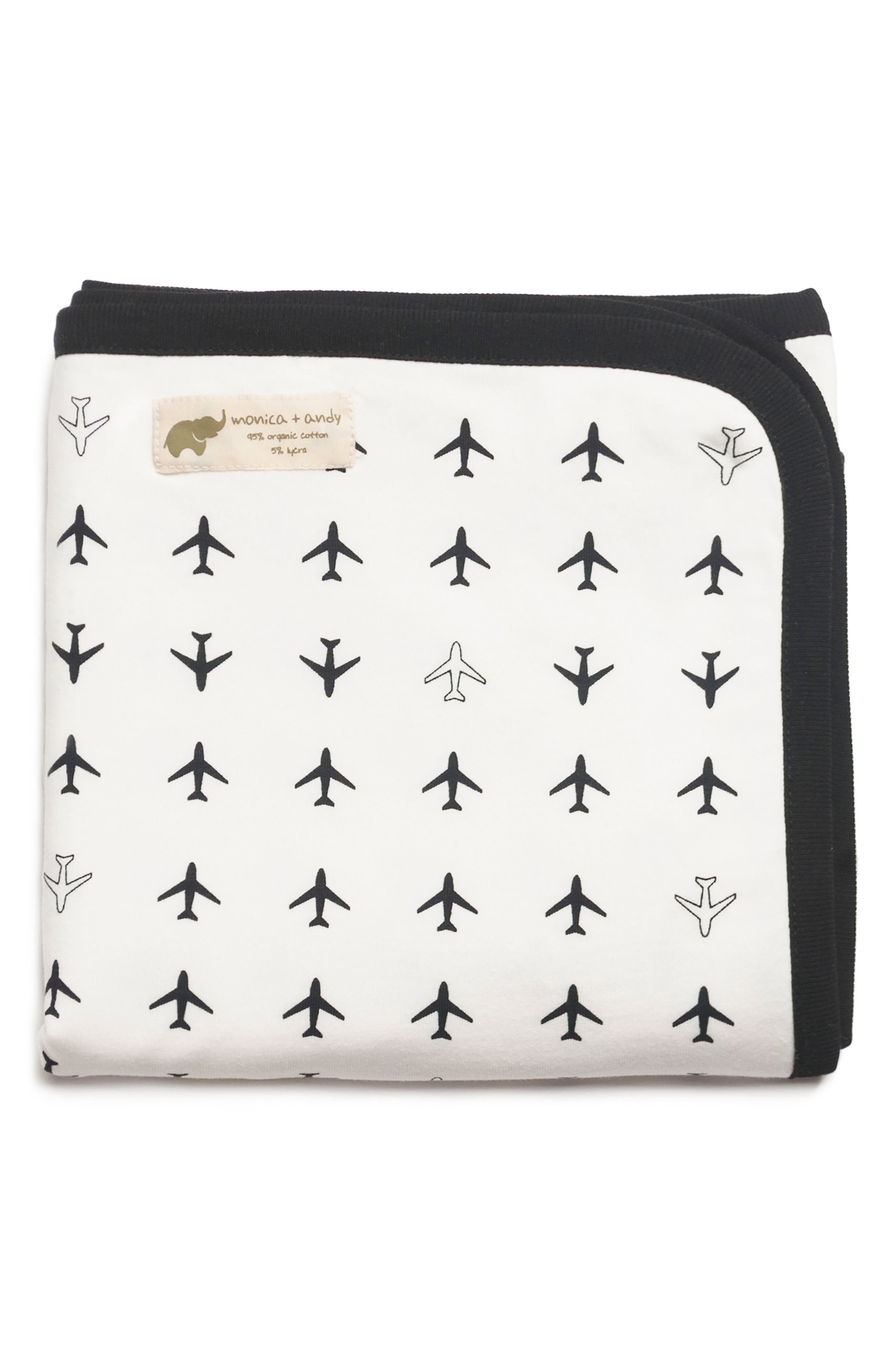 'Coming Home' Organic Cotton Blanket, Main, color, 001