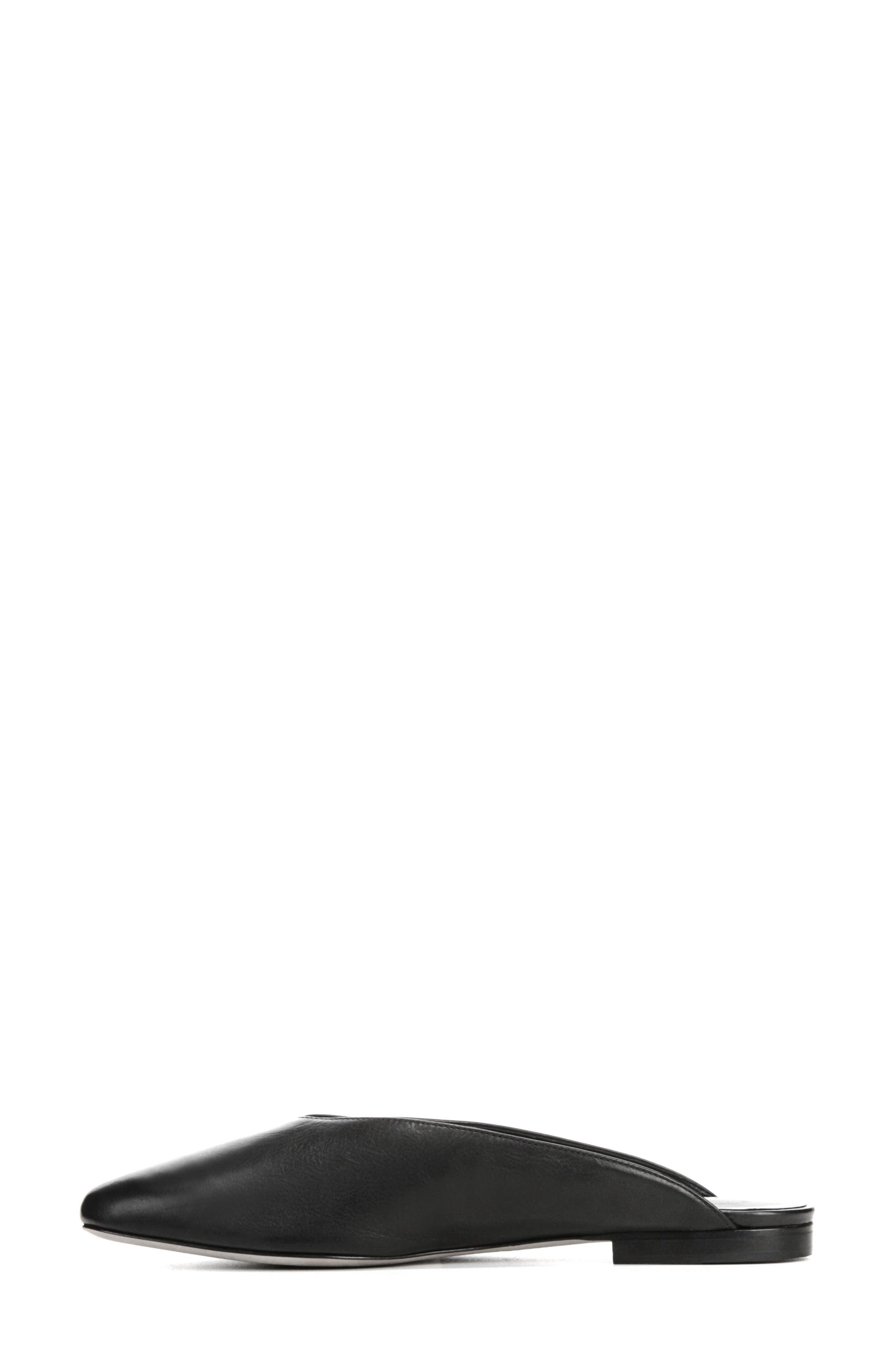 Levins V-Cut Mule,                             Alternate thumbnail 3, color,                             BLACK