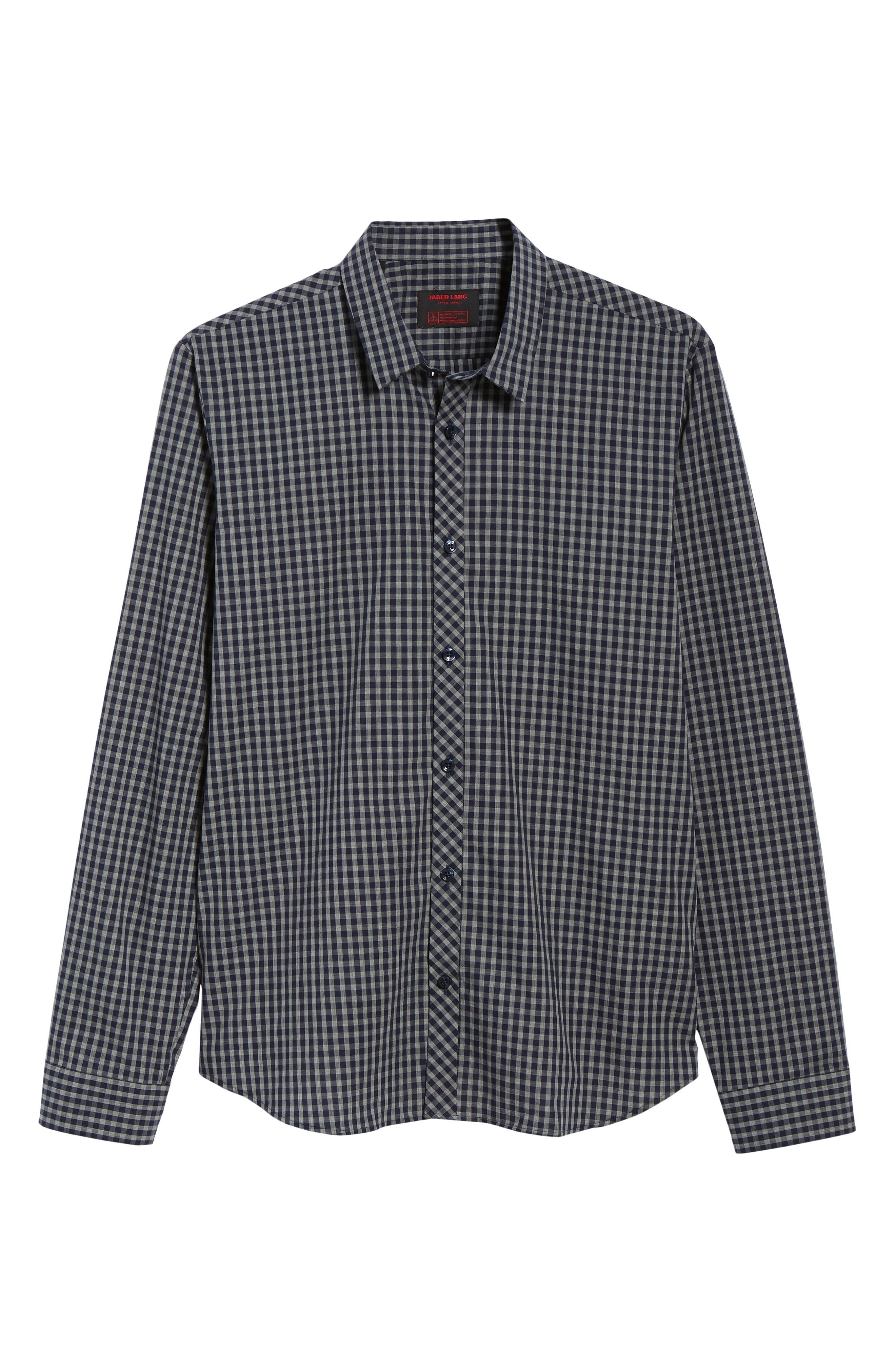 Trim Fit Sport Shirt,                             Alternate thumbnail 5, color,                             400