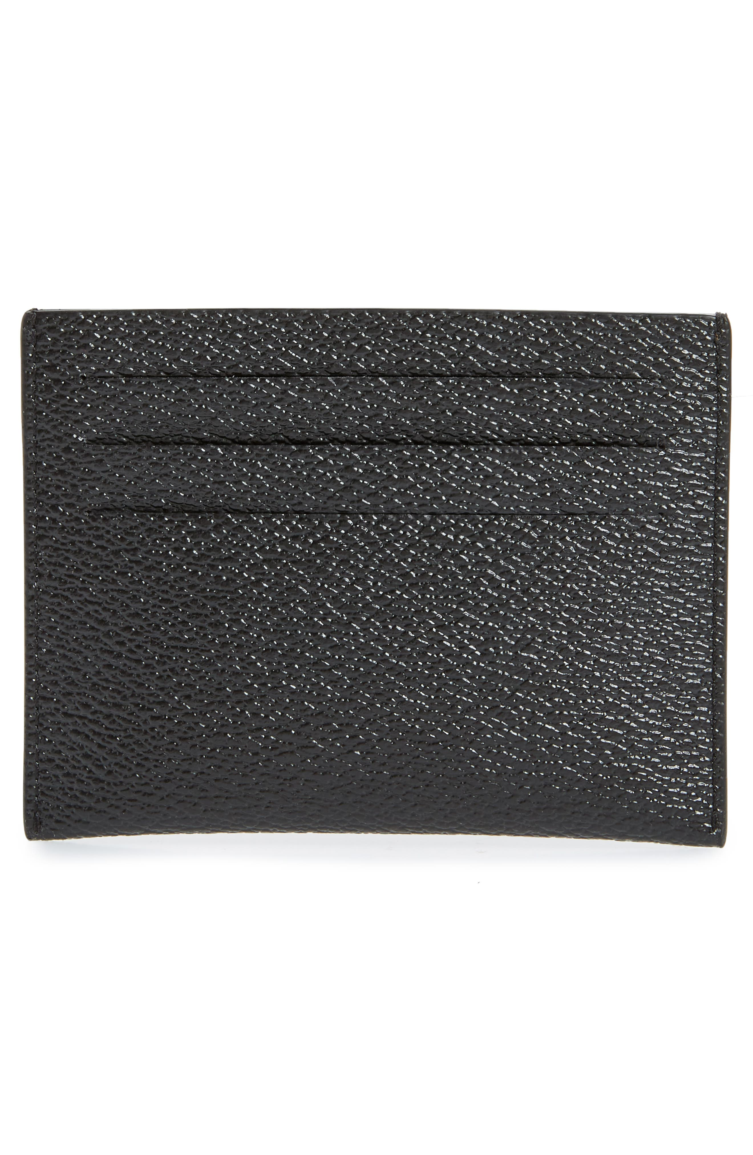 Lion Print Card Case,                             Alternate thumbnail 2, color,                             BLACK MULTI