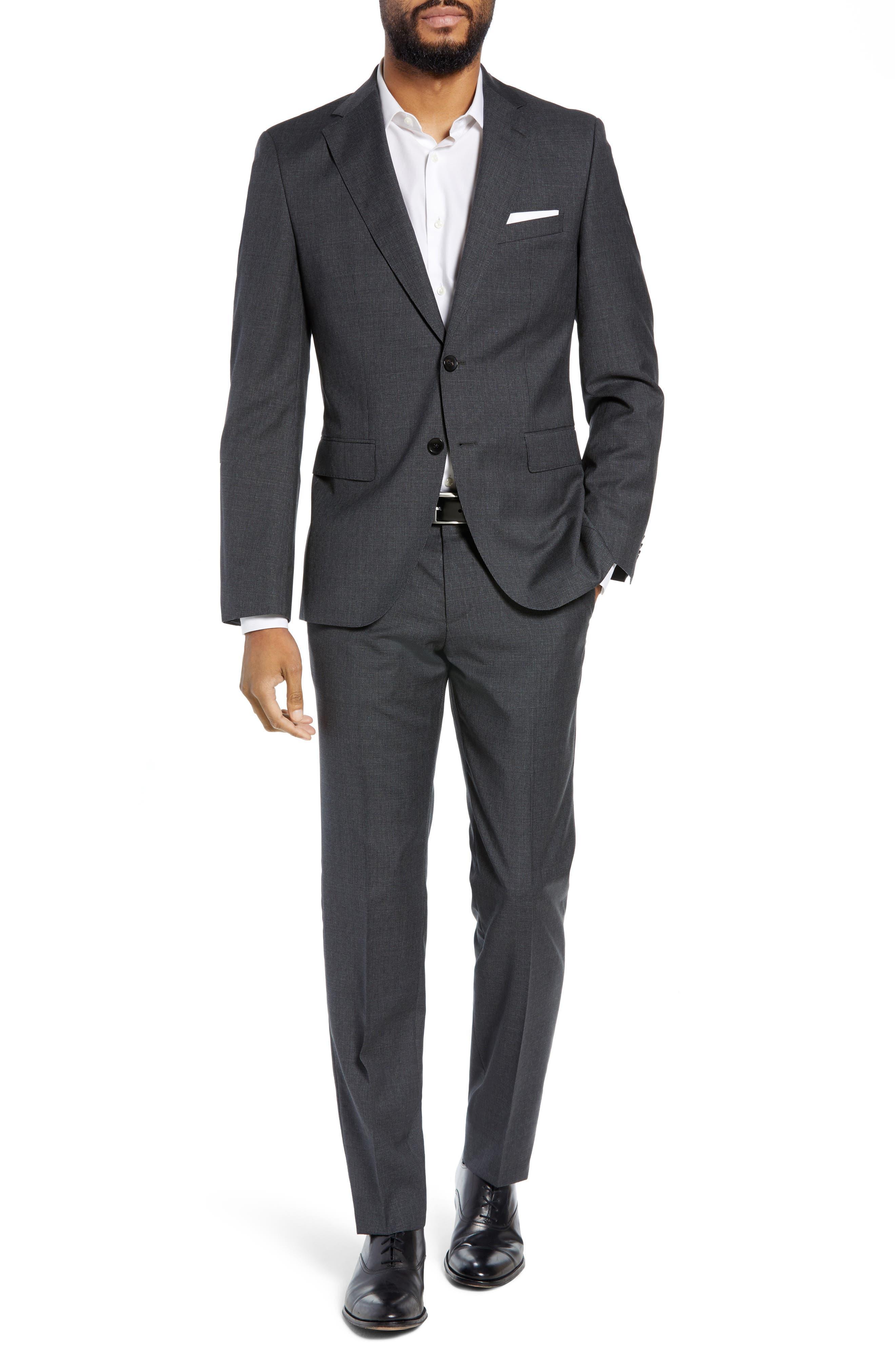 Men's Boss Johnstons/lenon Classic Fit Solid Wool Suit