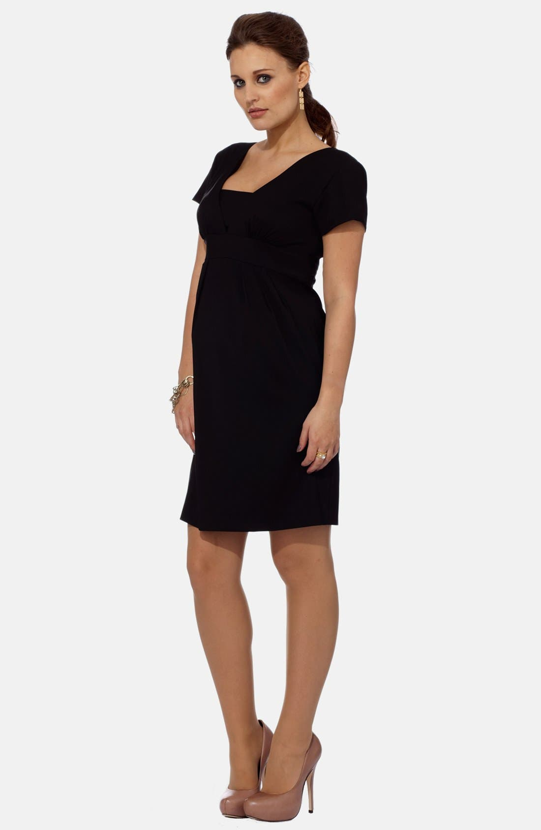 EVA ALEXANDER,                             London Tailored Maternity Dress,                             Alternate thumbnail 2, color,                             001