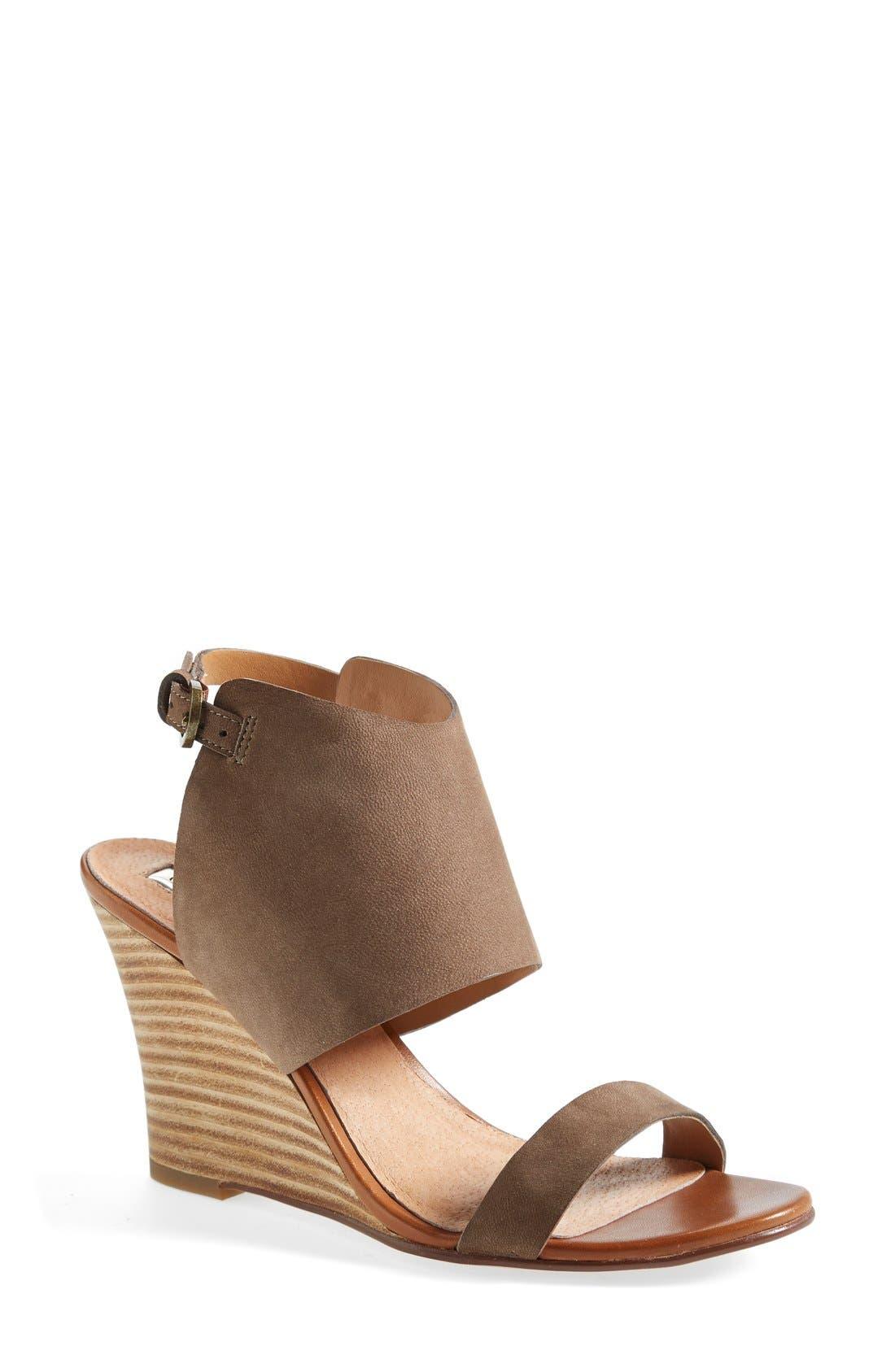 'Clarette' Wedge Sandal,                             Main thumbnail 1, color,                             030