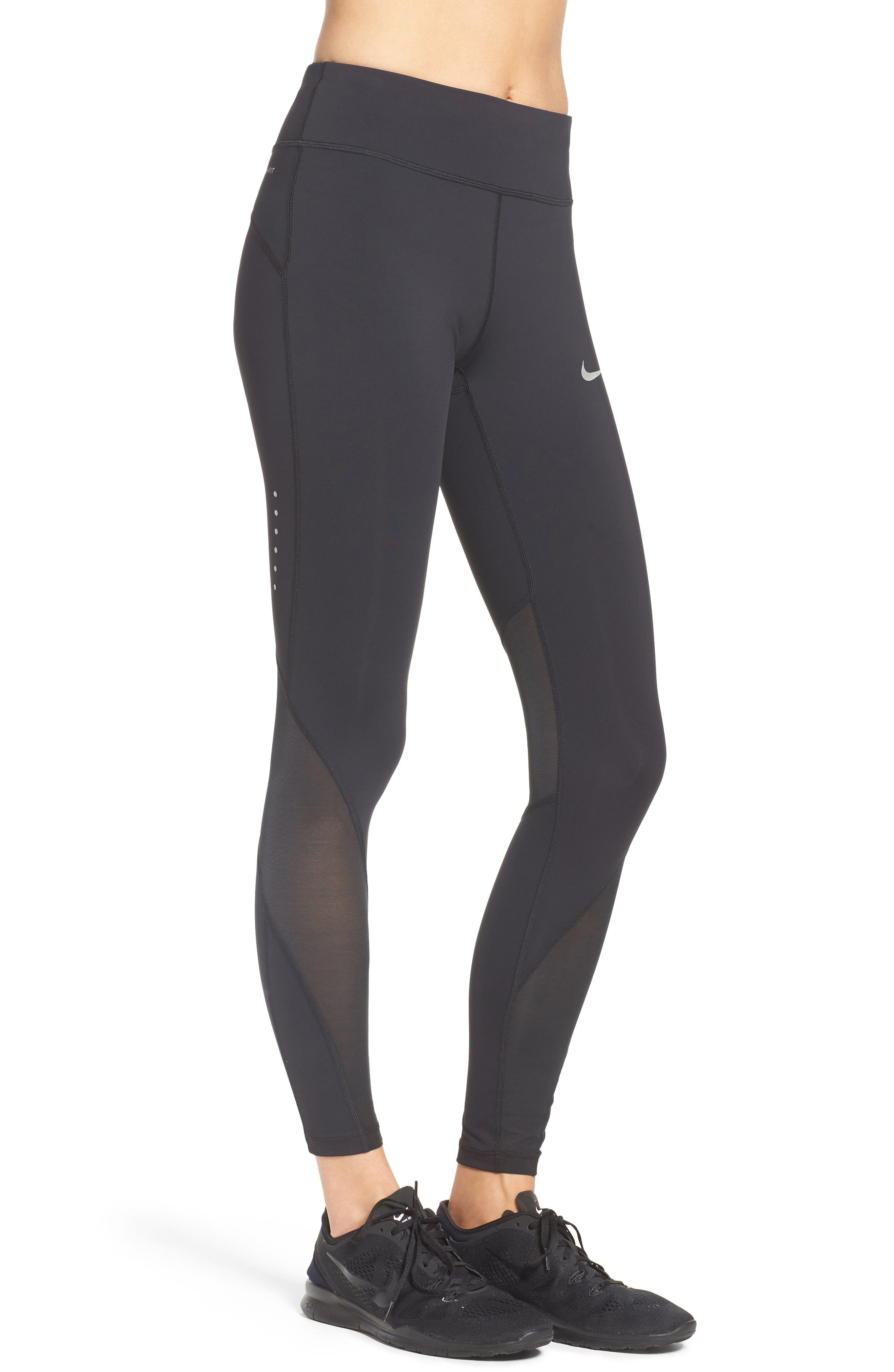 Power Epic Luxe Running Tights,                             Alternate thumbnail 3, color,                             010