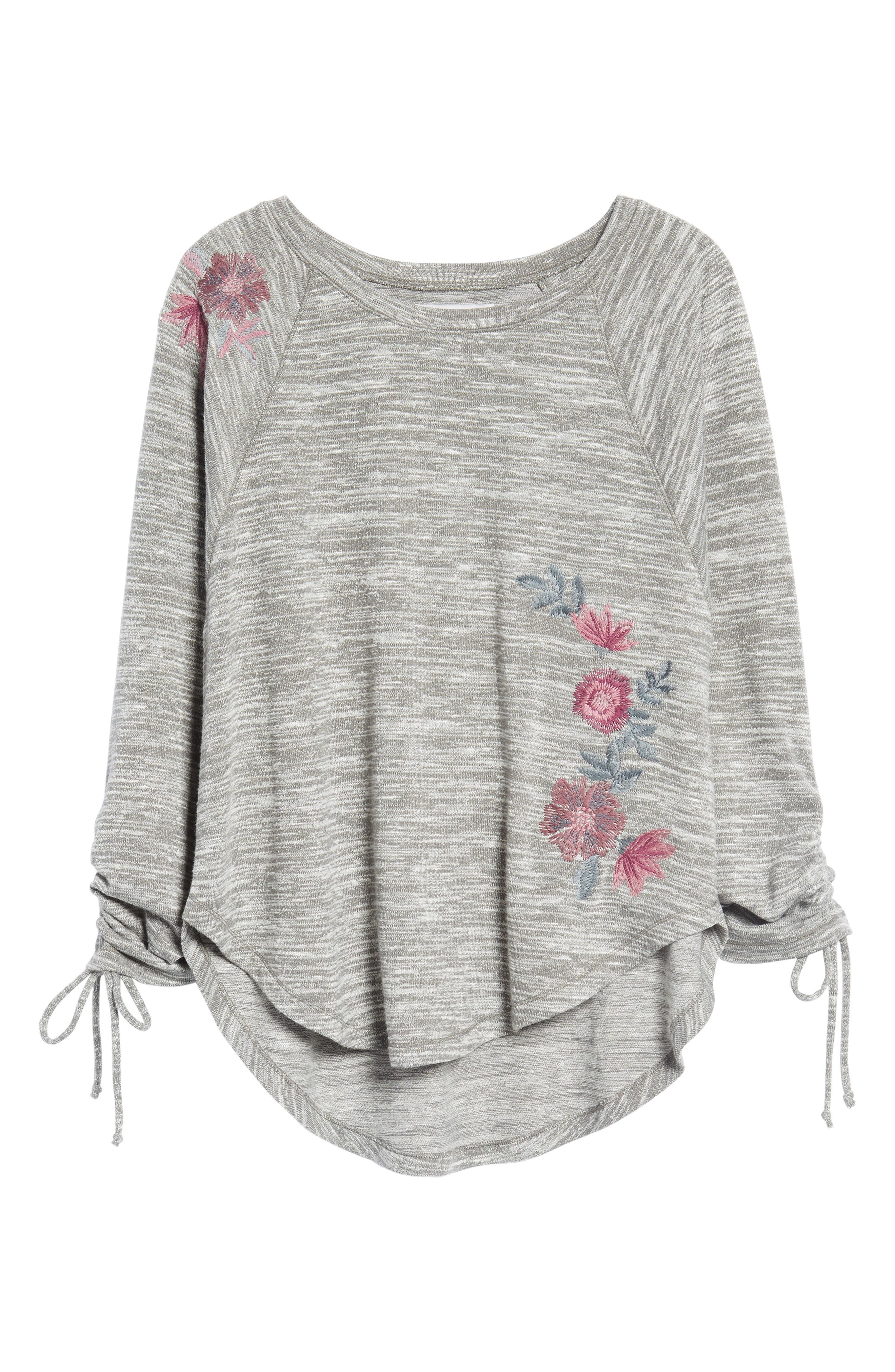 Hacci Embroidered Sweatshirt,                             Alternate thumbnail 6, color,                             022