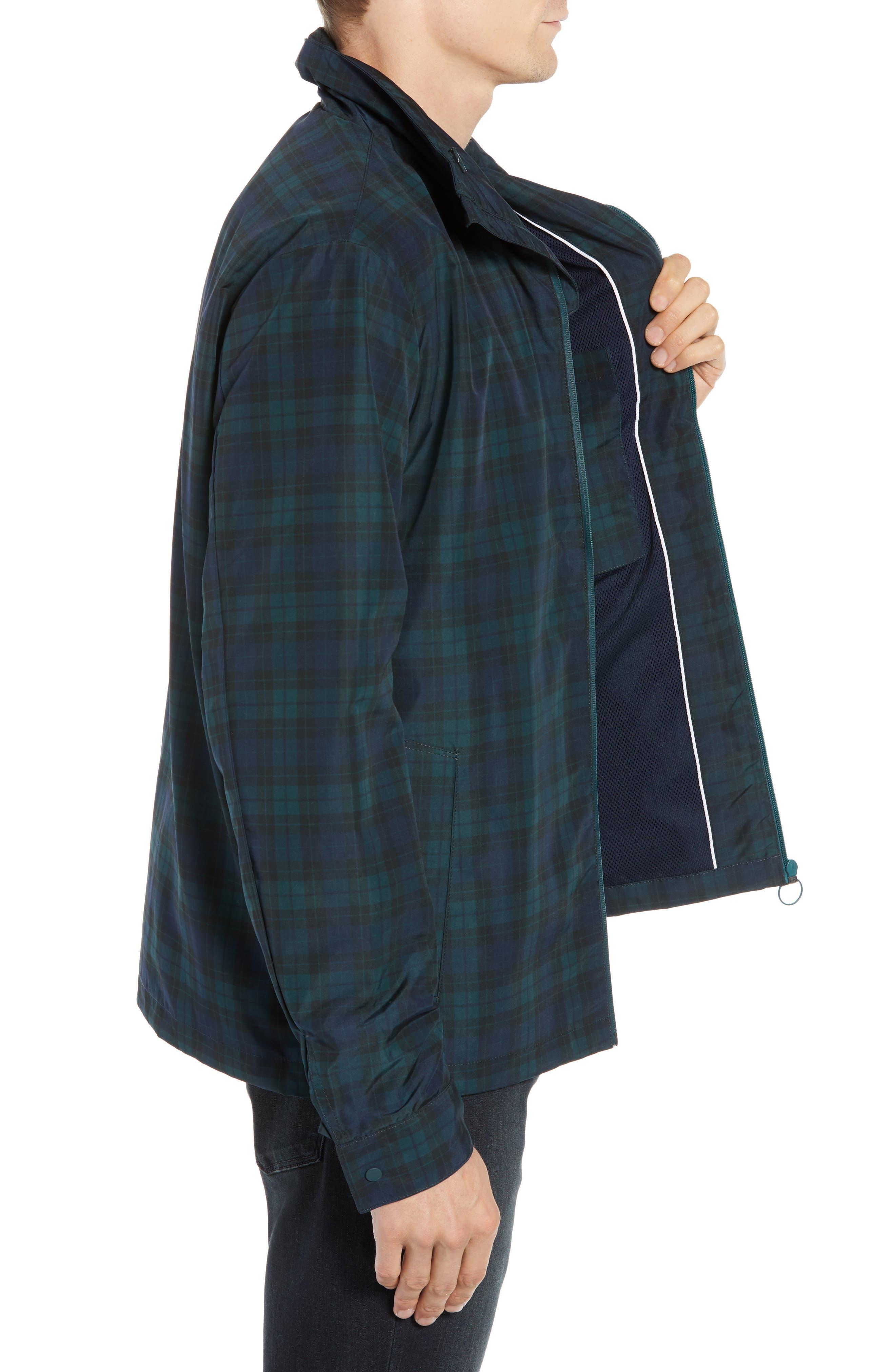 Regular Fit Check Windbreaker Jacket,                             Alternate thumbnail 3, color,                             NAVY BLUE/ SINOPLE BLACK