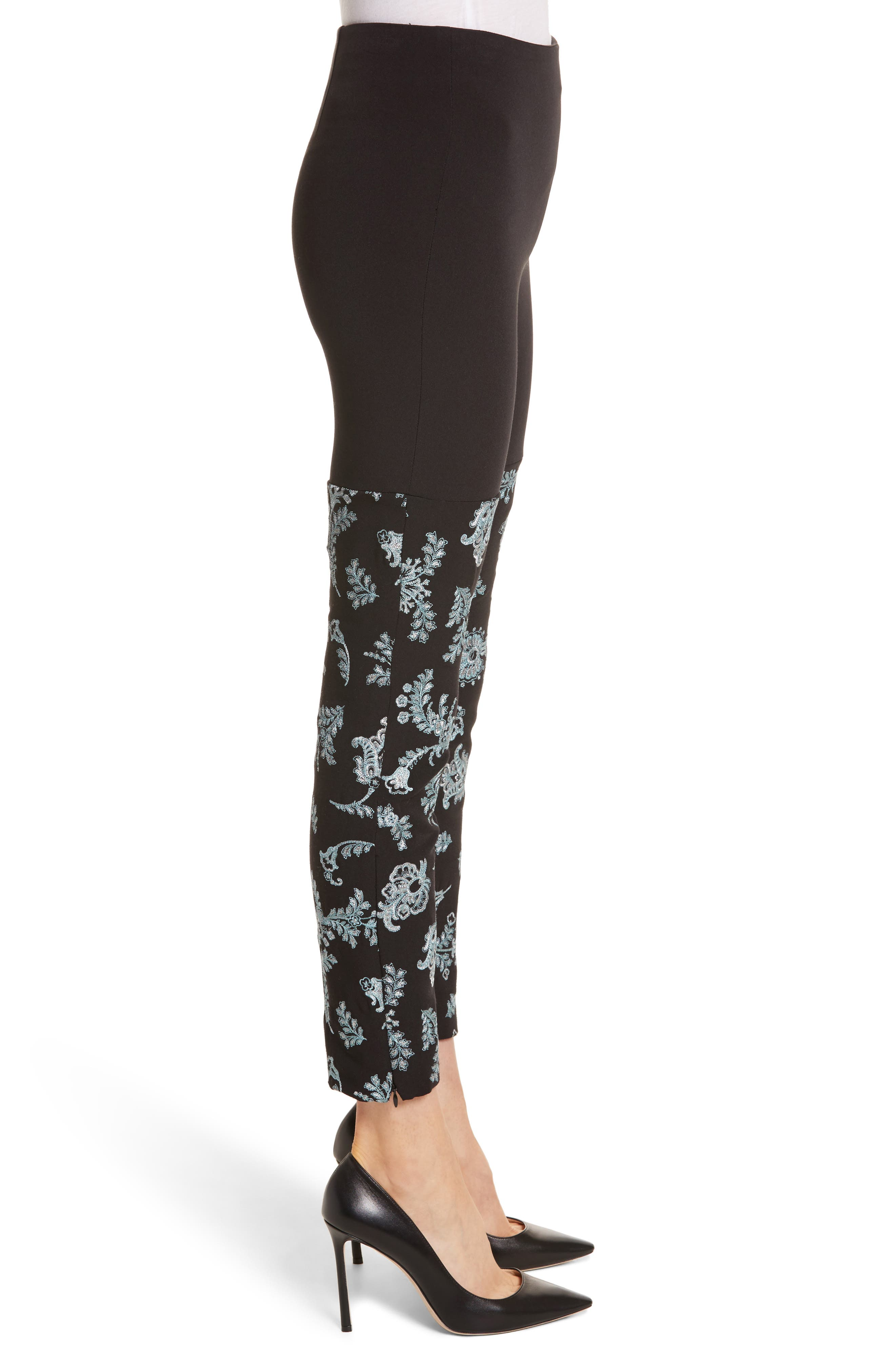 Marin Embroidered Leggings,                             Alternate thumbnail 3, color,