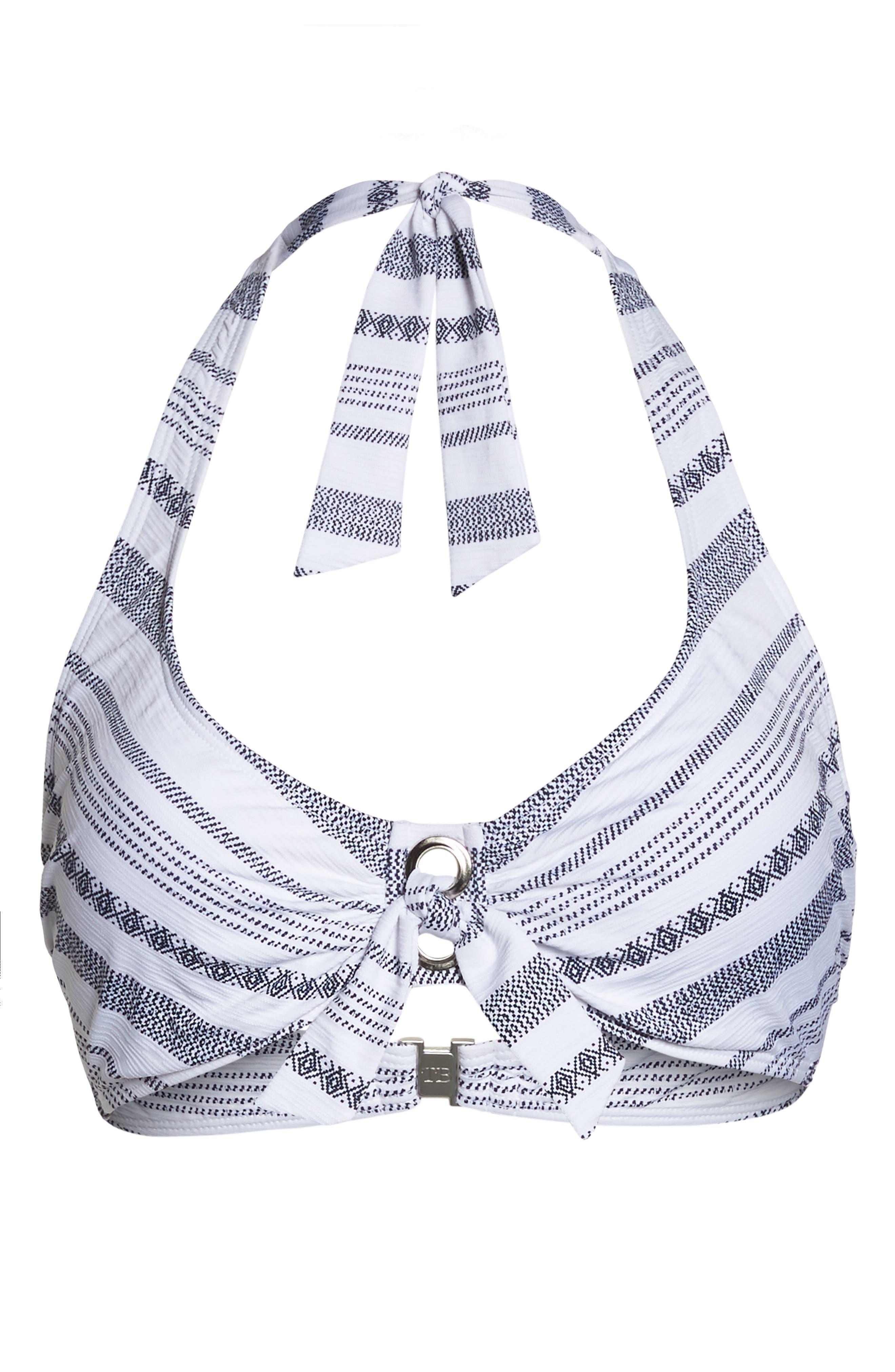 Sand Bar Stripe Underwire Bikini Top,                             Alternate thumbnail 6, color,                             100