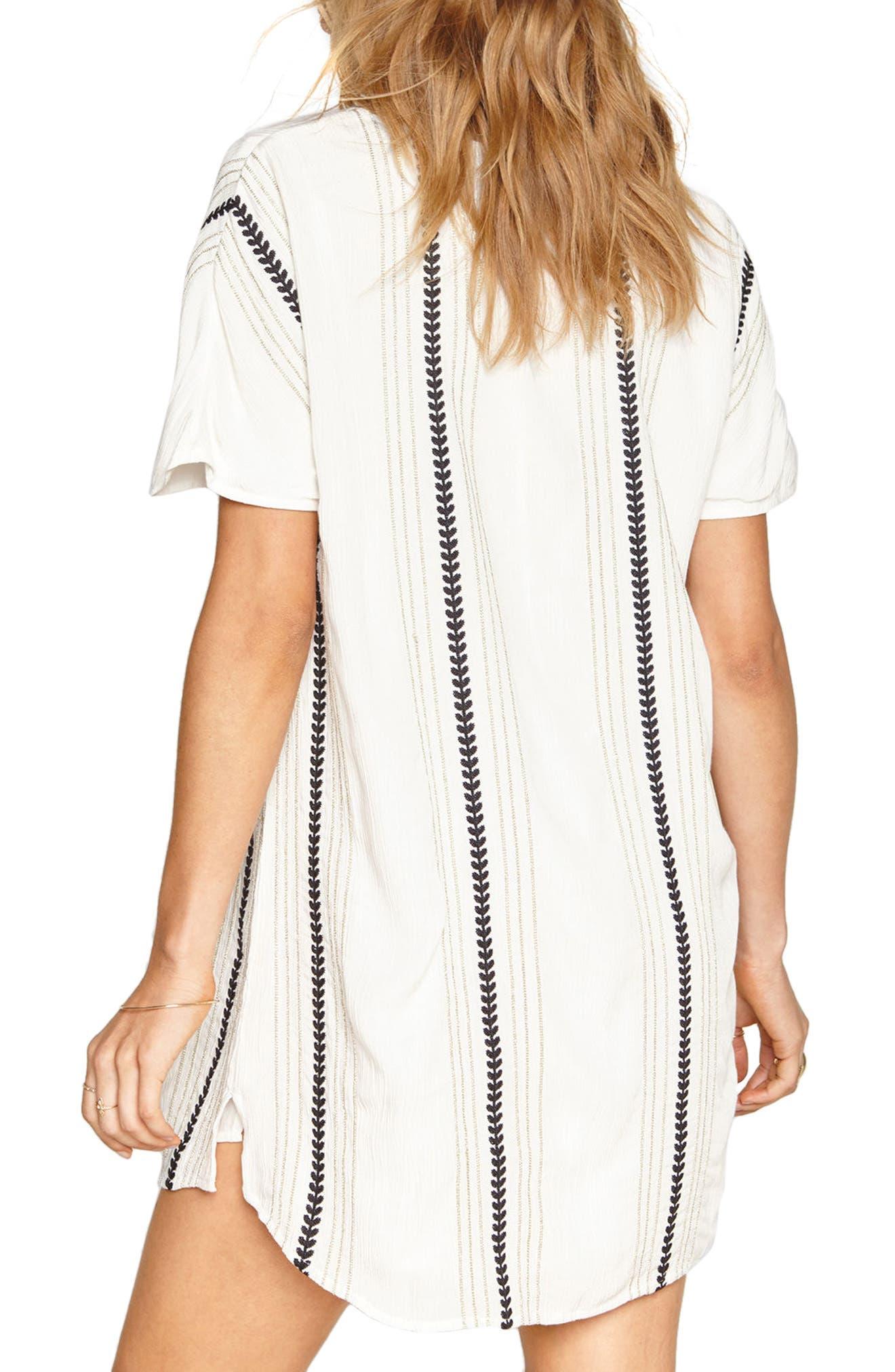 Hampton Stripe Shift Dress,                             Alternate thumbnail 2, color,                             101