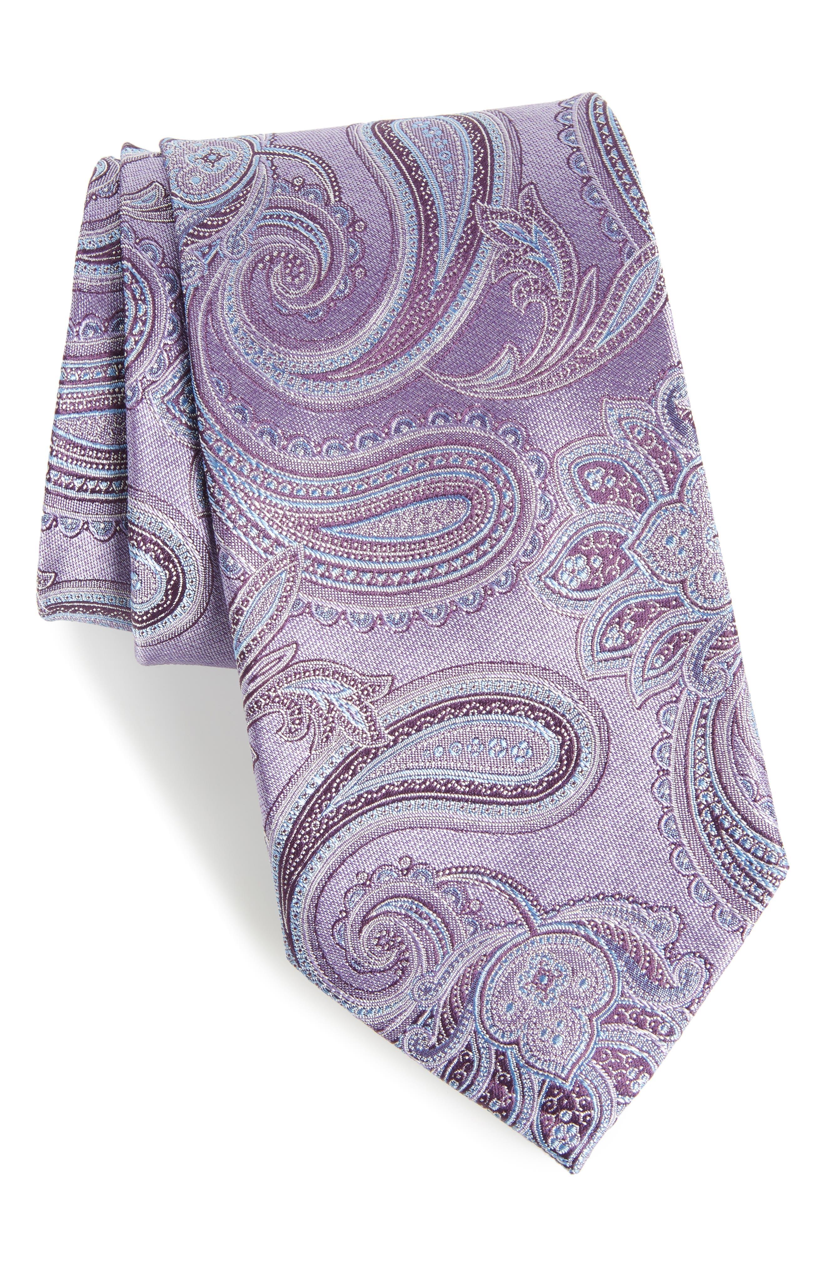 Barga Paisley Silk Tie,                             Main thumbnail 4, color,