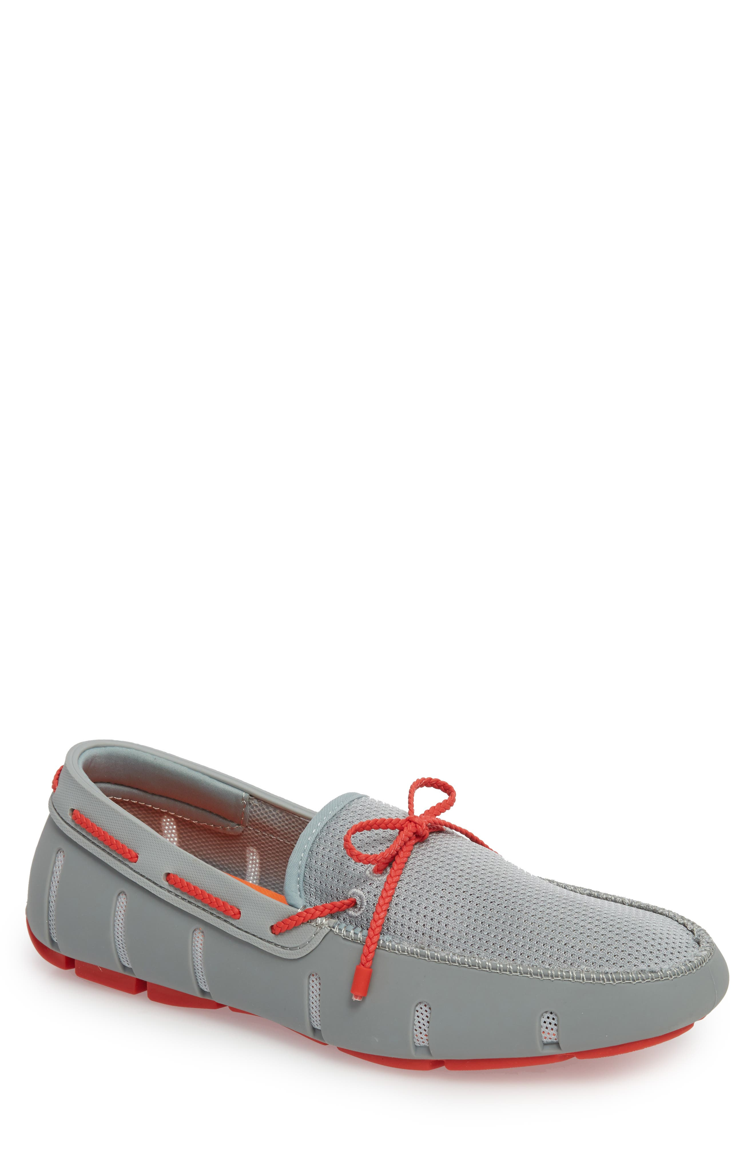 Lace Loafer,                         Main,                         color, LIMESTONE/ TRAFFIC LIGHT