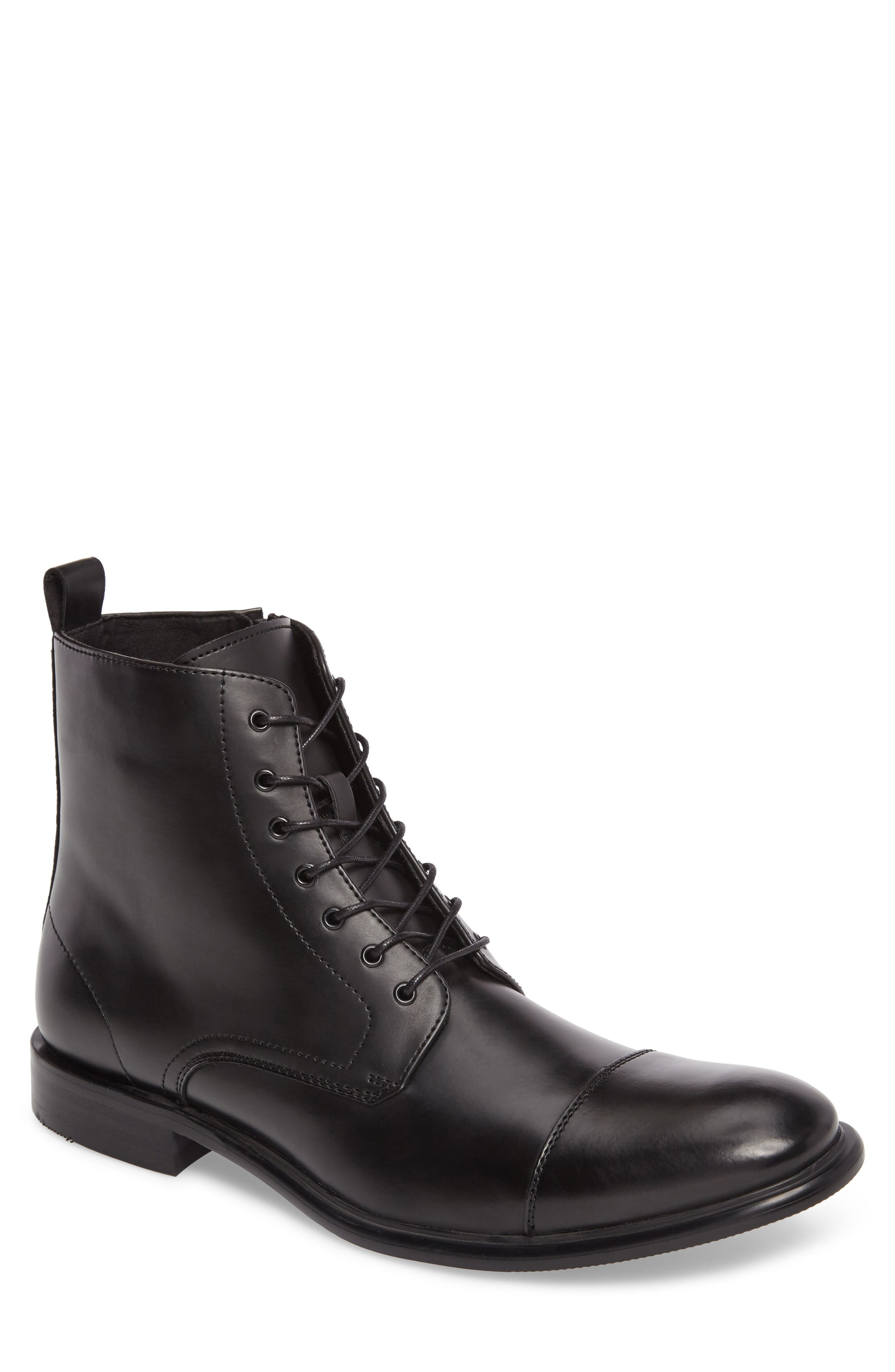 Kenneth Cole Reaction Cap Toe Boot, Main, color, 001