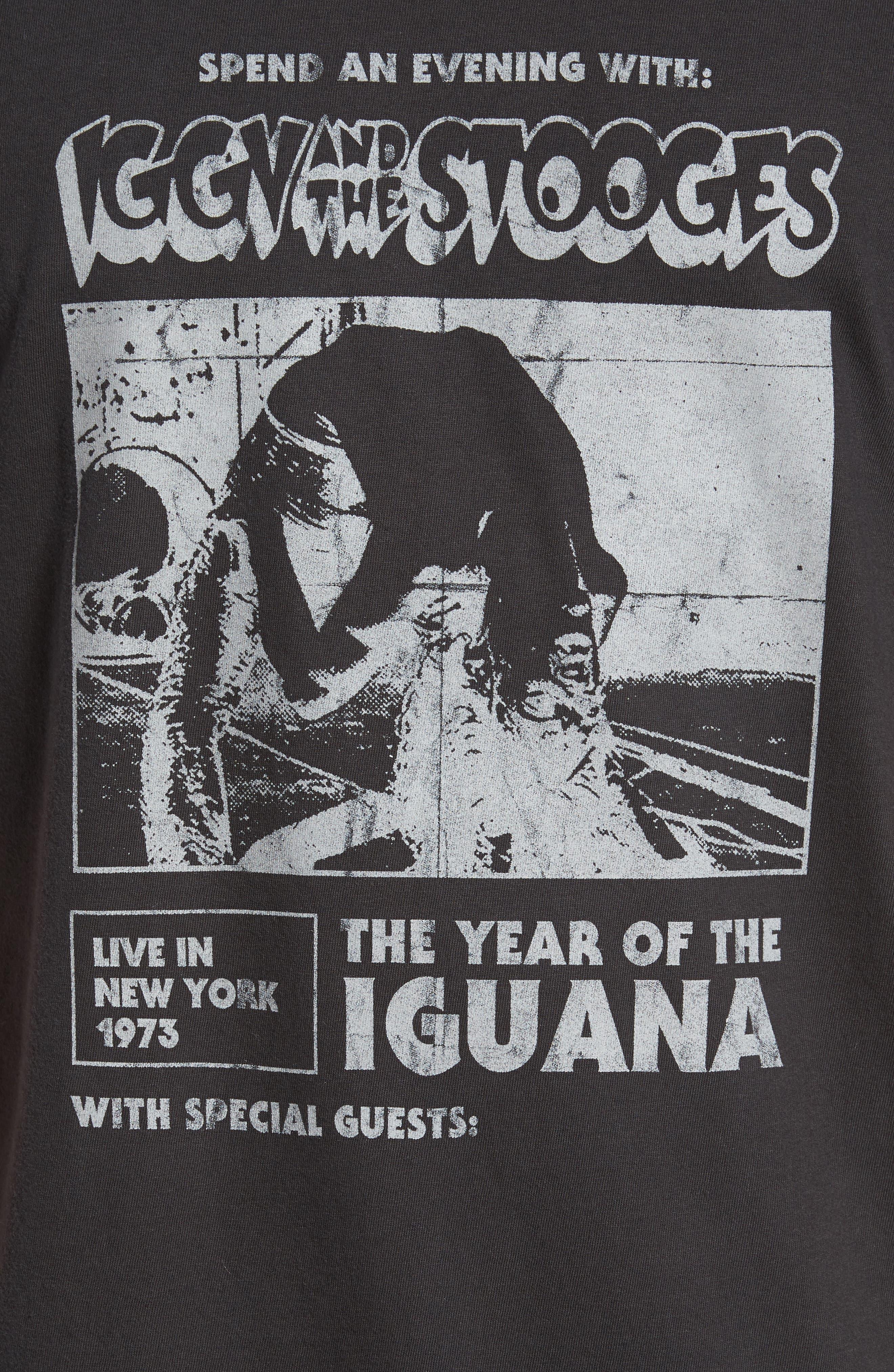 Iggy Pop x Billabong Iguana T-Shirt,                             Alternate thumbnail 5, color,                             001