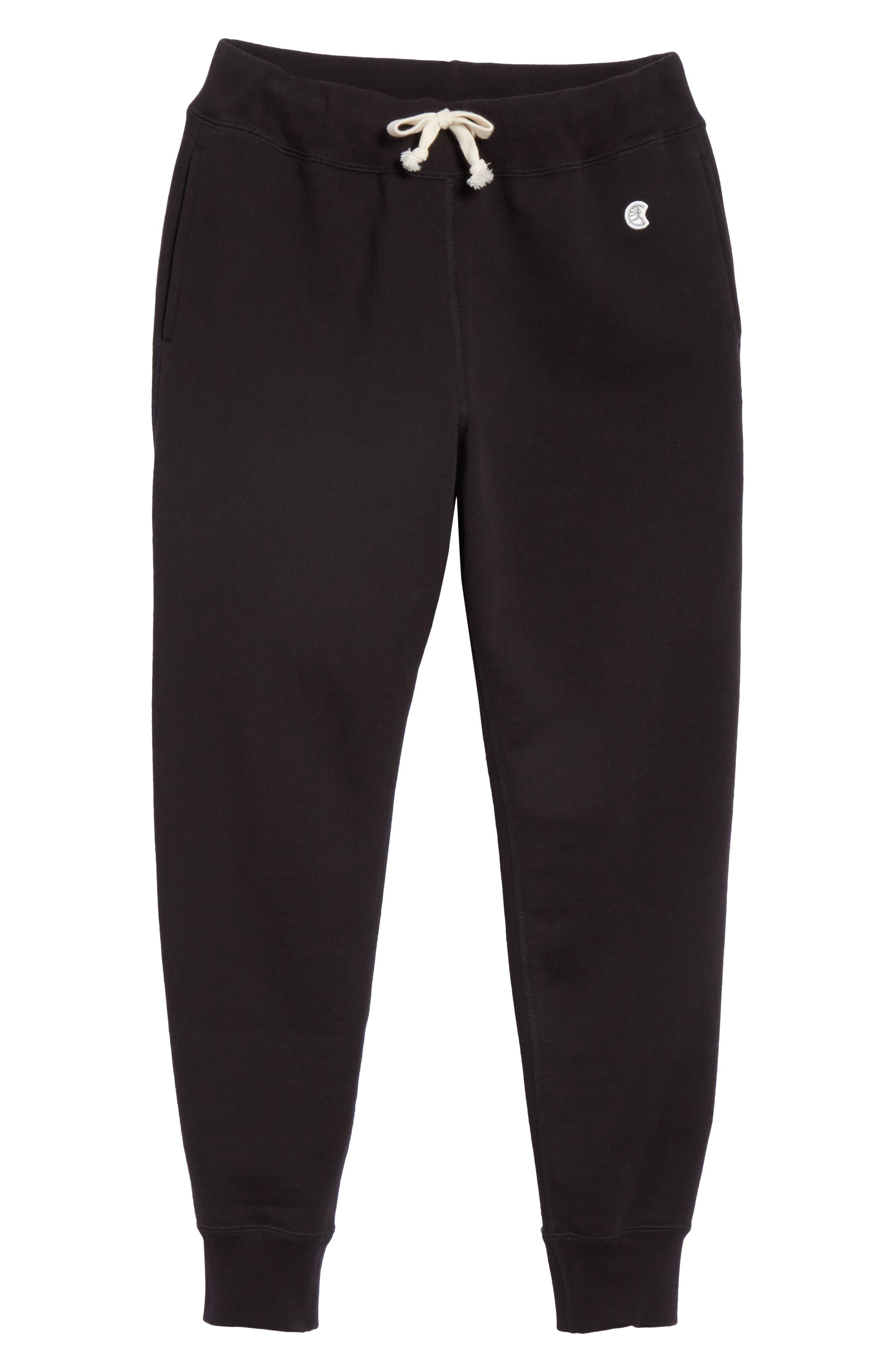 Cotton Blend Jogger Pants,                             Alternate thumbnail 6, color,                             001