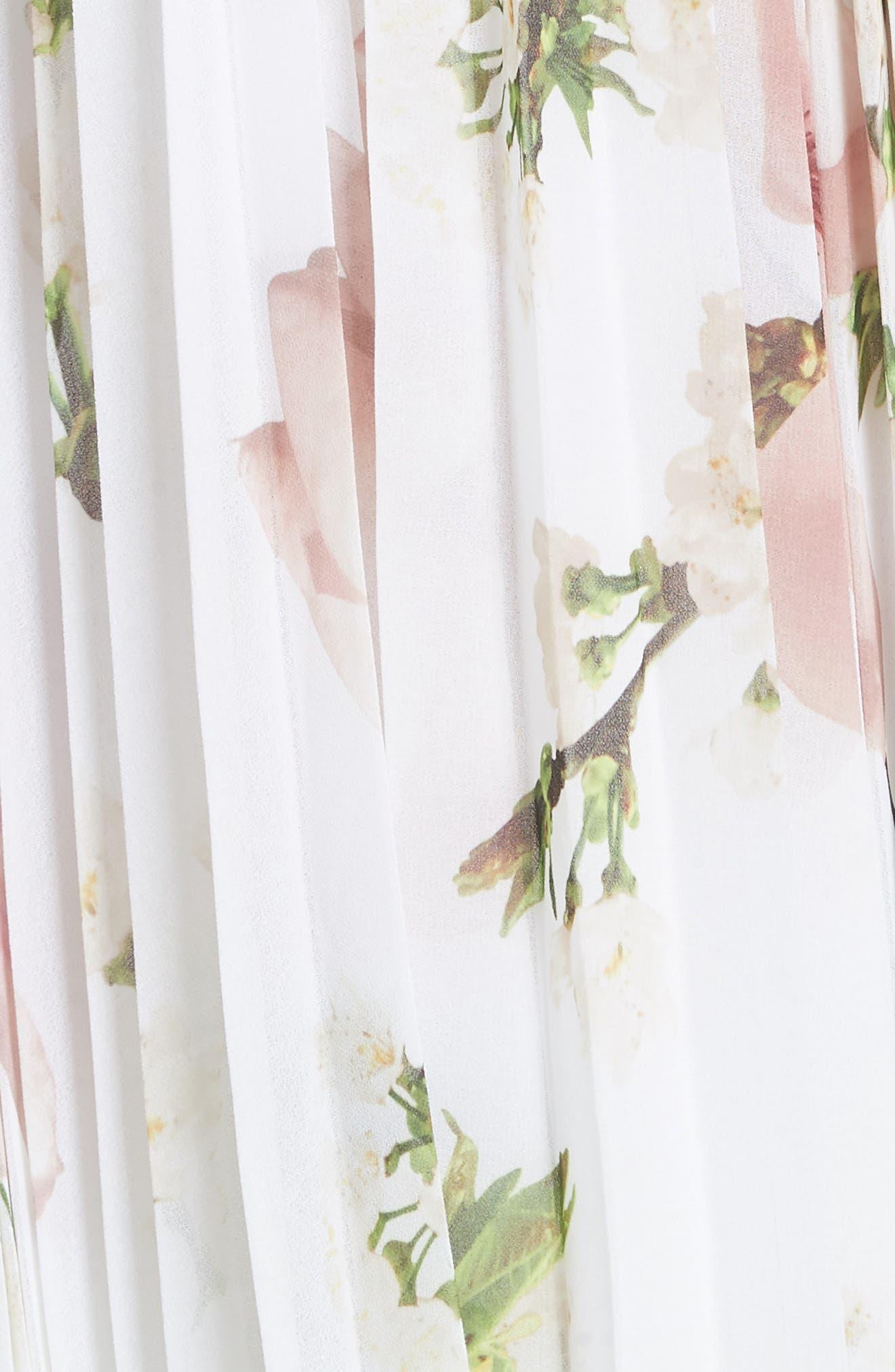 Harmony Pleat Maxi Dress,                             Alternate thumbnail 5, color,                             110