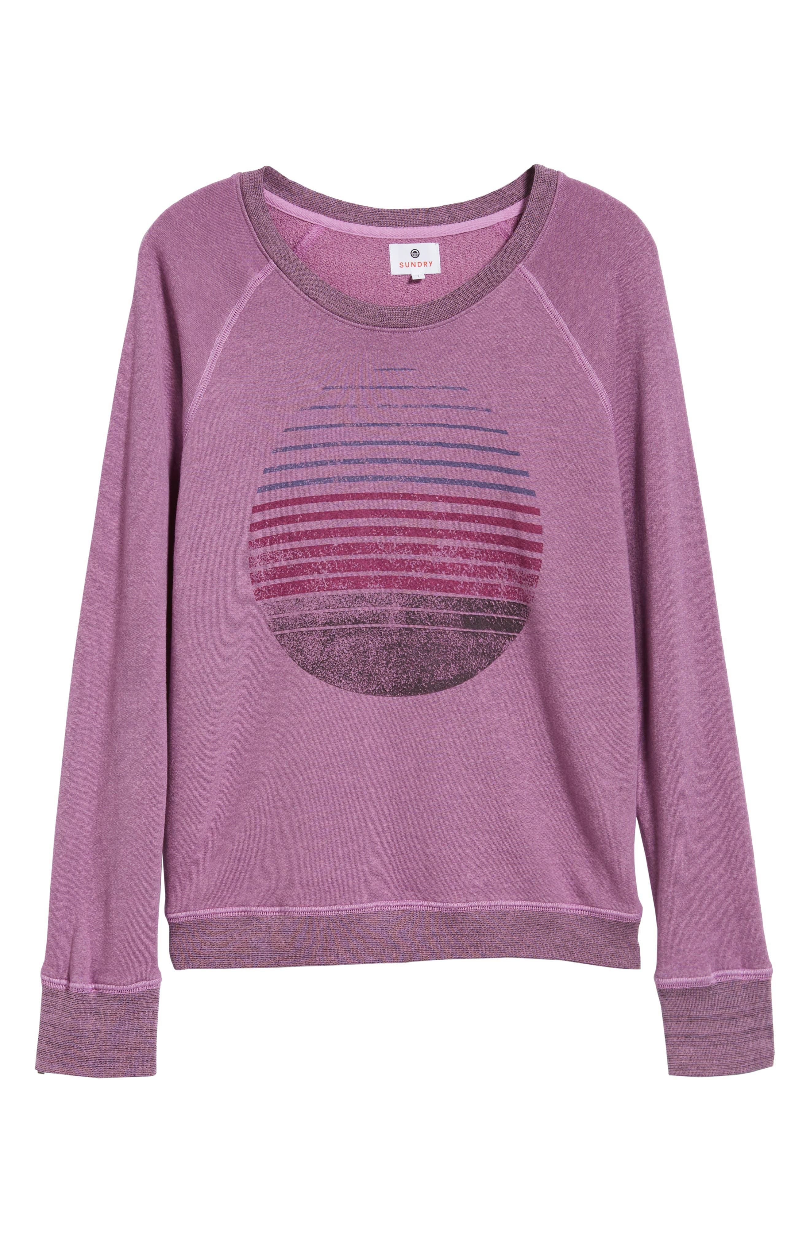 Faded Print Sweatshirt,                             Alternate thumbnail 6, color,                             525