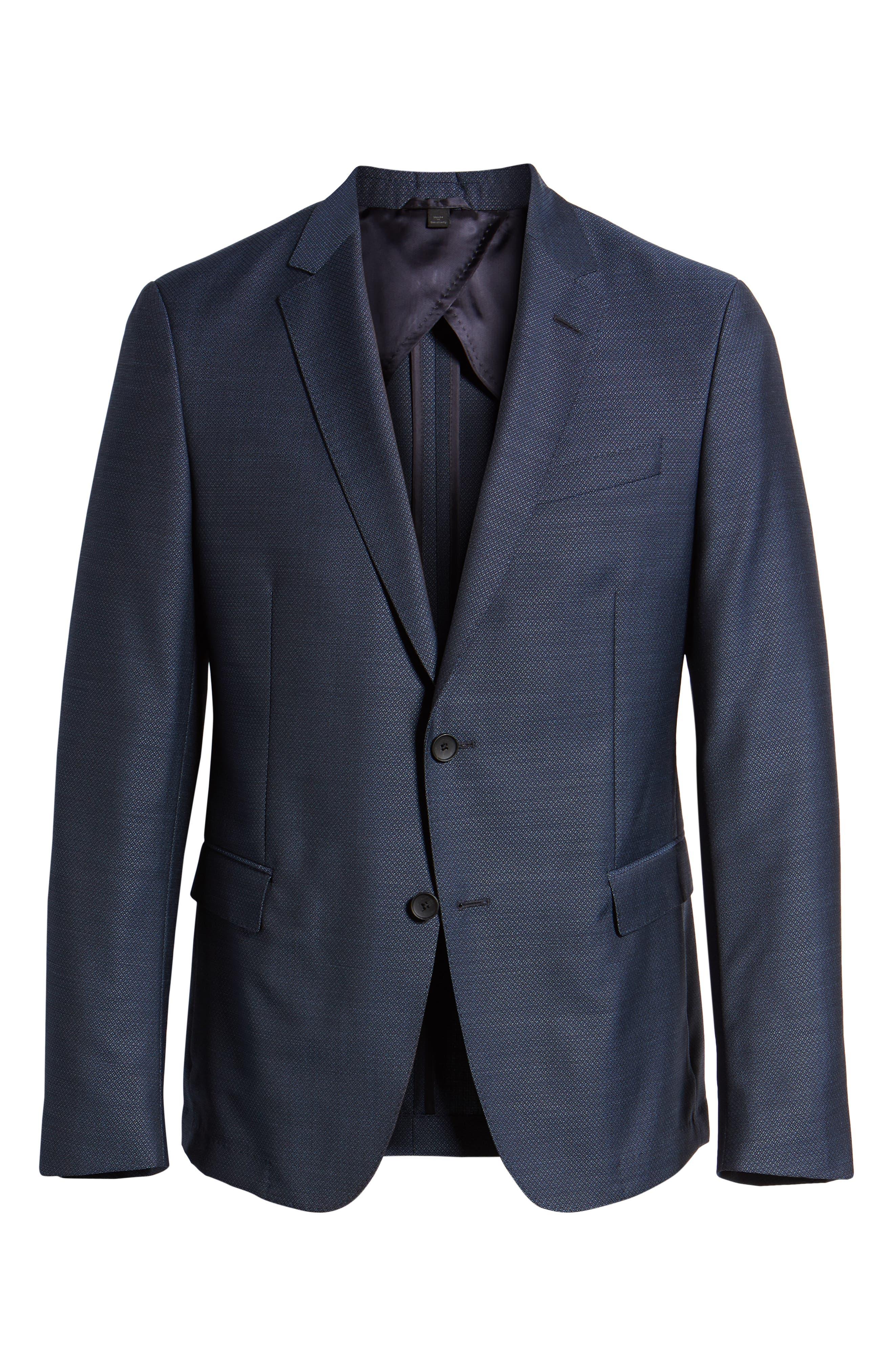Nobis Trim Fit Wool Blazer,                             Alternate thumbnail 5, color,                             BLUE