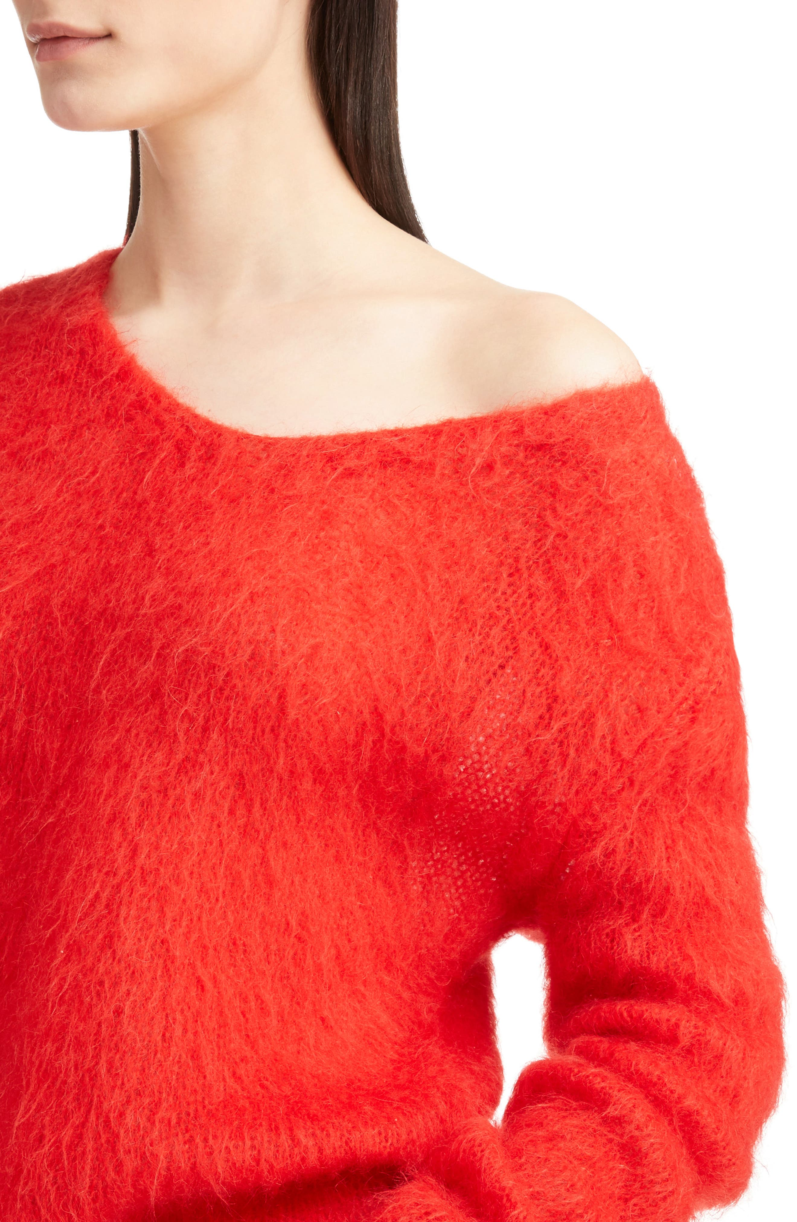 Mohair Blend Sweater,                             Alternate thumbnail 4, color,