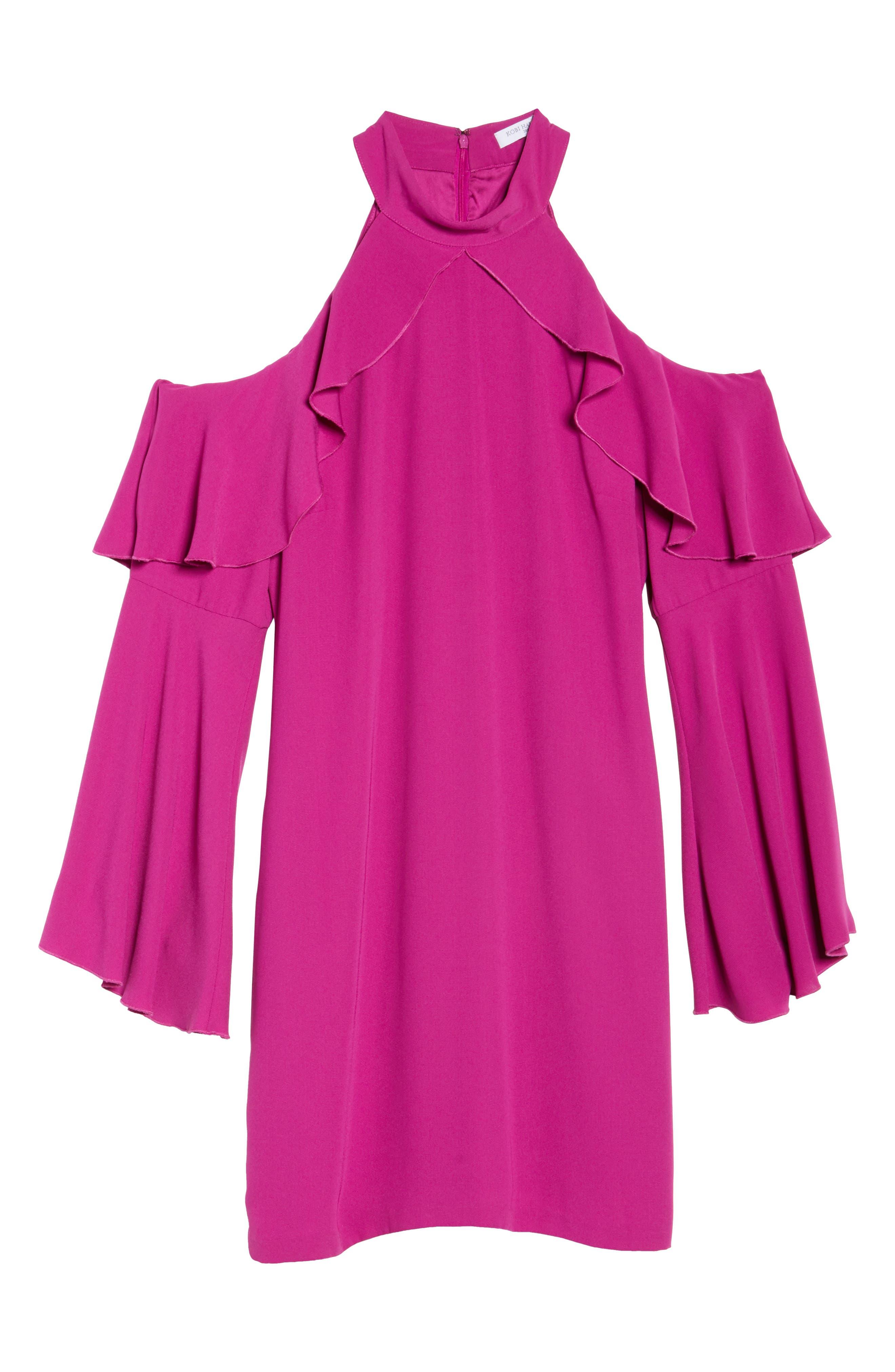 Sydney Cold Shoulder Dress,                             Alternate thumbnail 12, color,