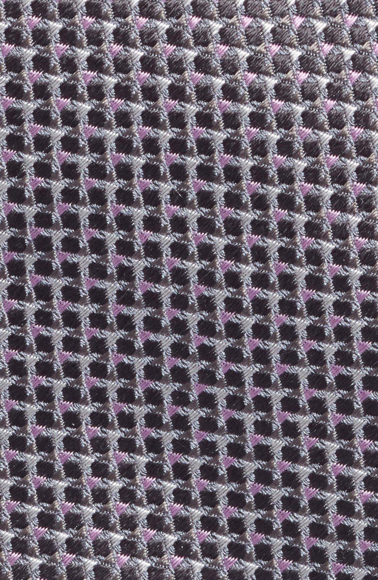Textured Silk Tie,                             Alternate thumbnail 2, color,                             GREY
