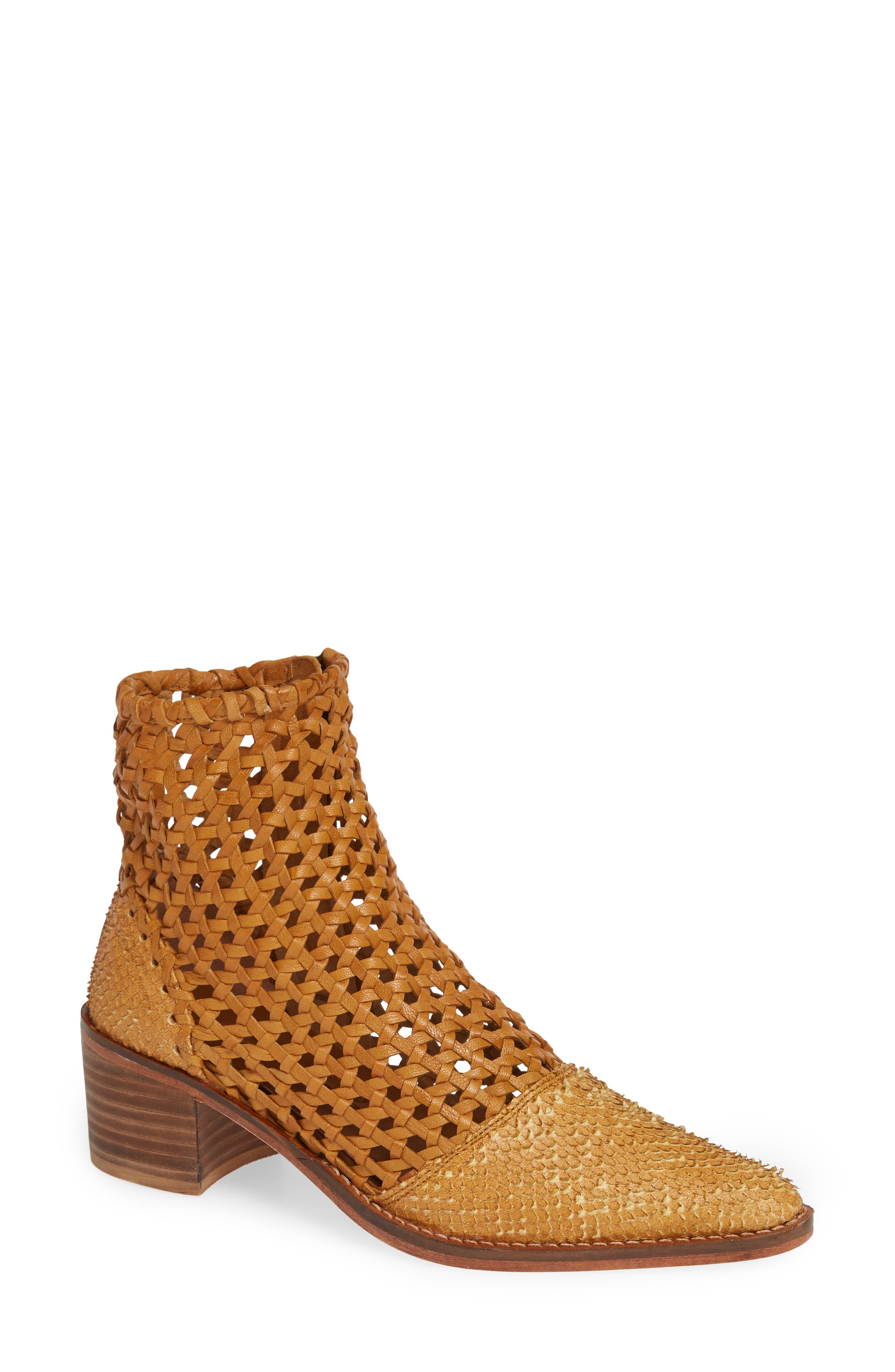 In the Loop Woven Bootie,                         Main,                         color, TAUPE