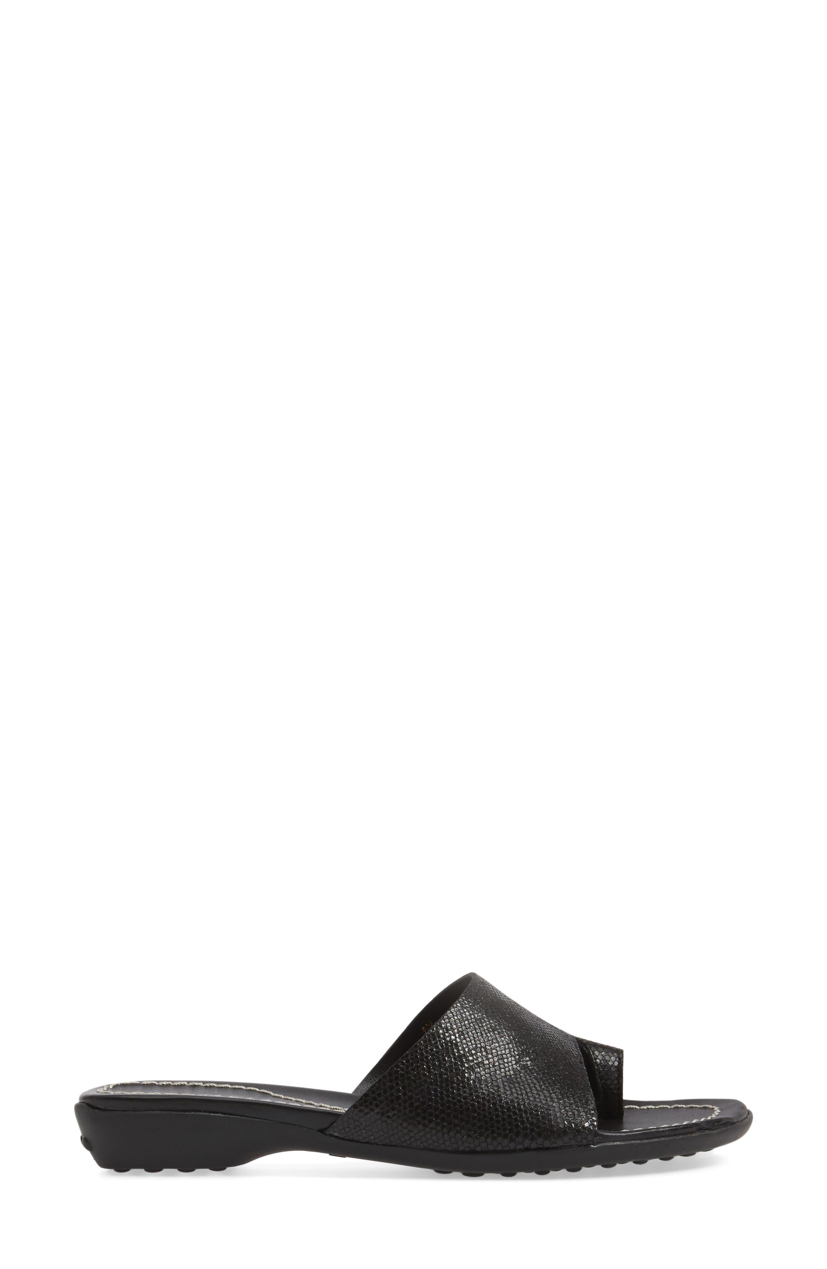 'Tallis' Snake Embossed Leather Slide Sandal,                             Alternate thumbnail 15, color,
