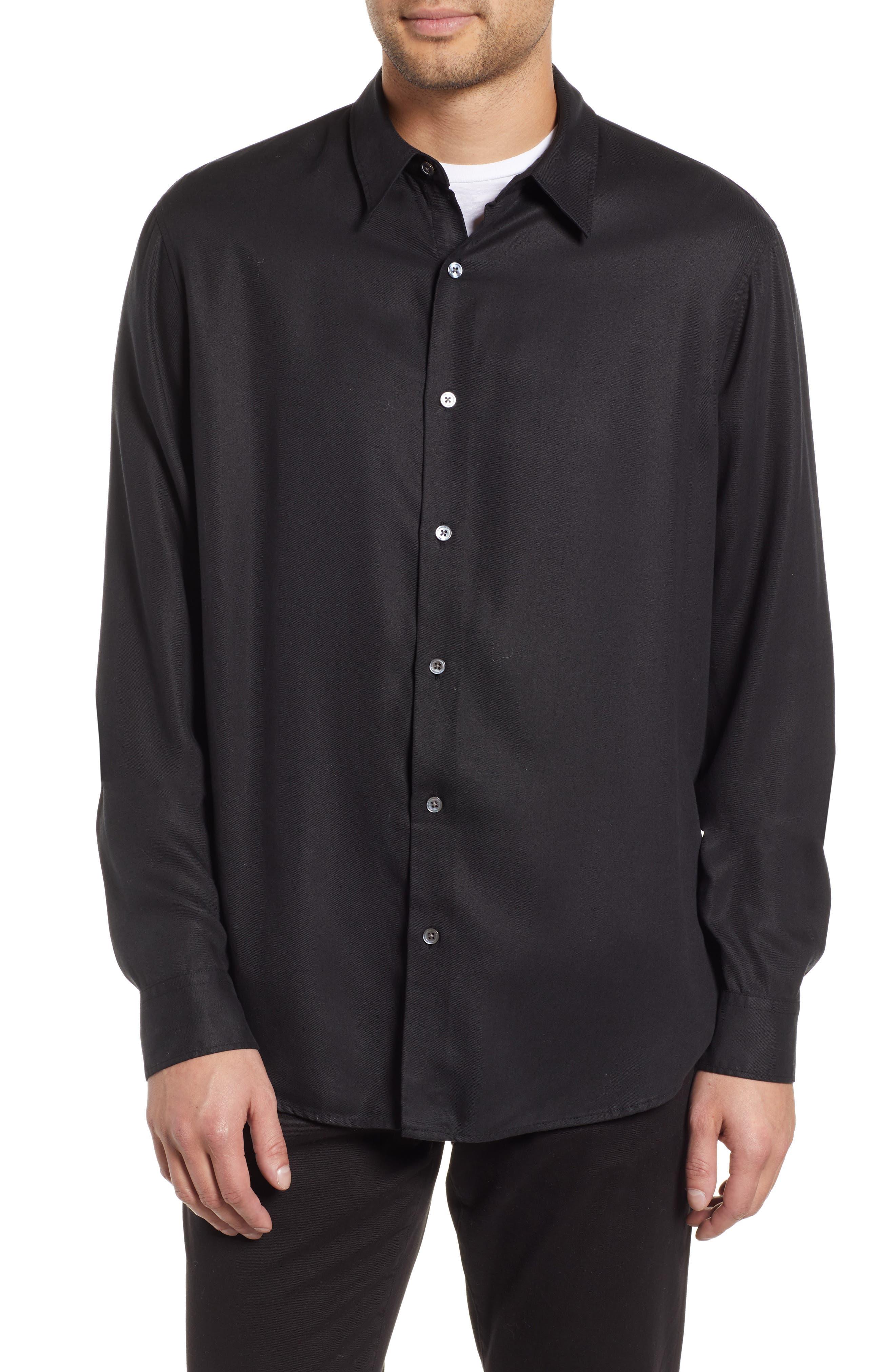 Air Clean Regular Fit Sport Shirt,                             Main thumbnail 1, color,                             BLACK