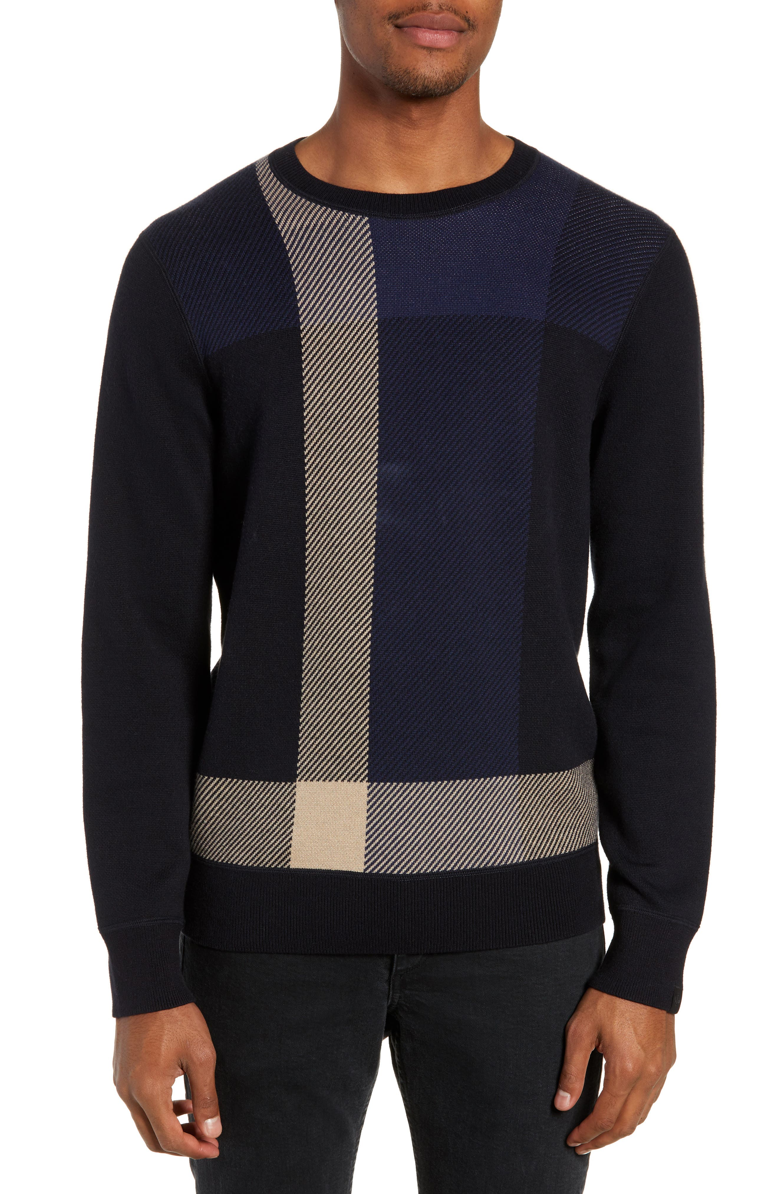 Marshall Crewneck Sweater, Main, color, NAVY